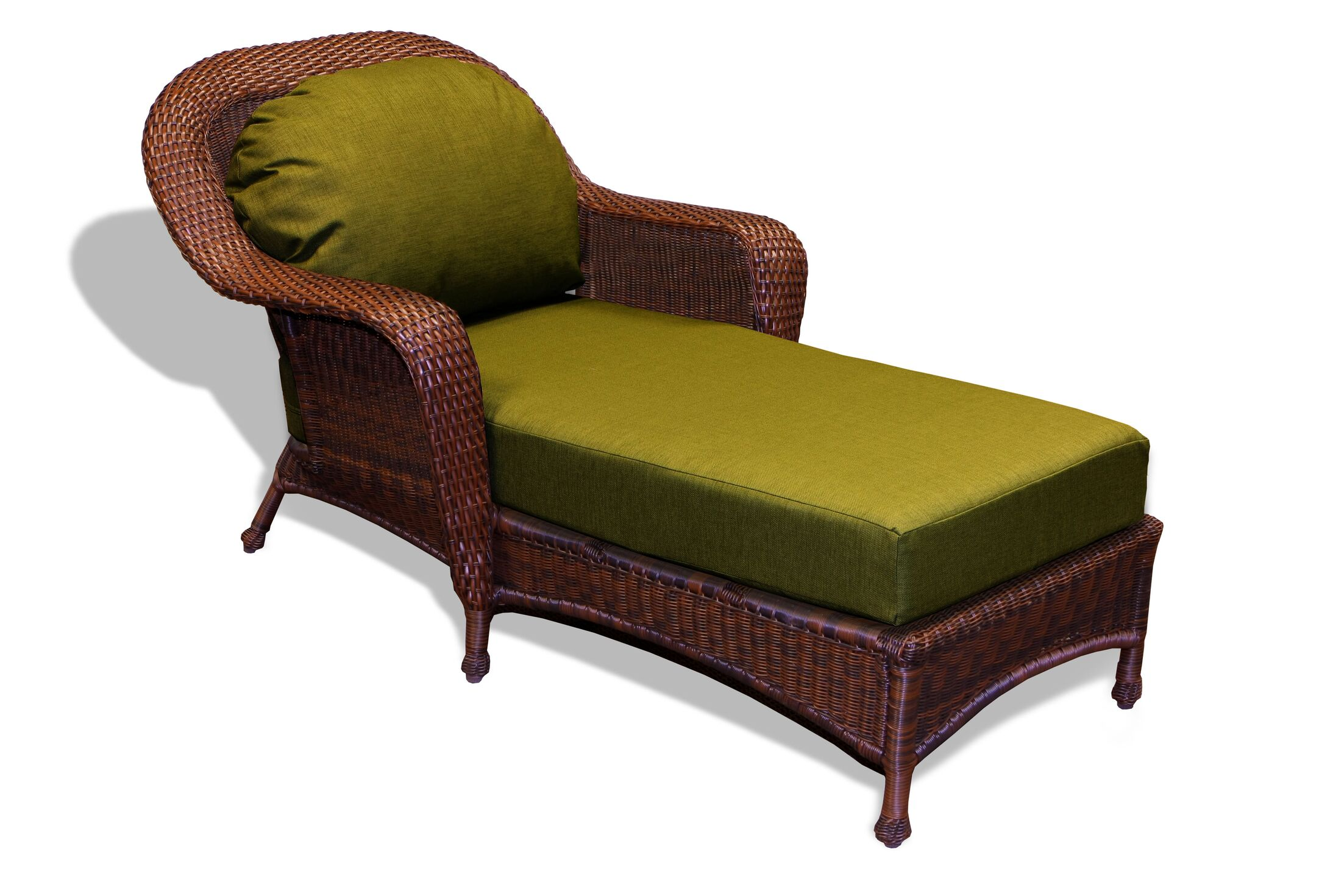 Fleischmann Chaise Lounge with Cushion Fabric: Rave Pine, Finish: Java