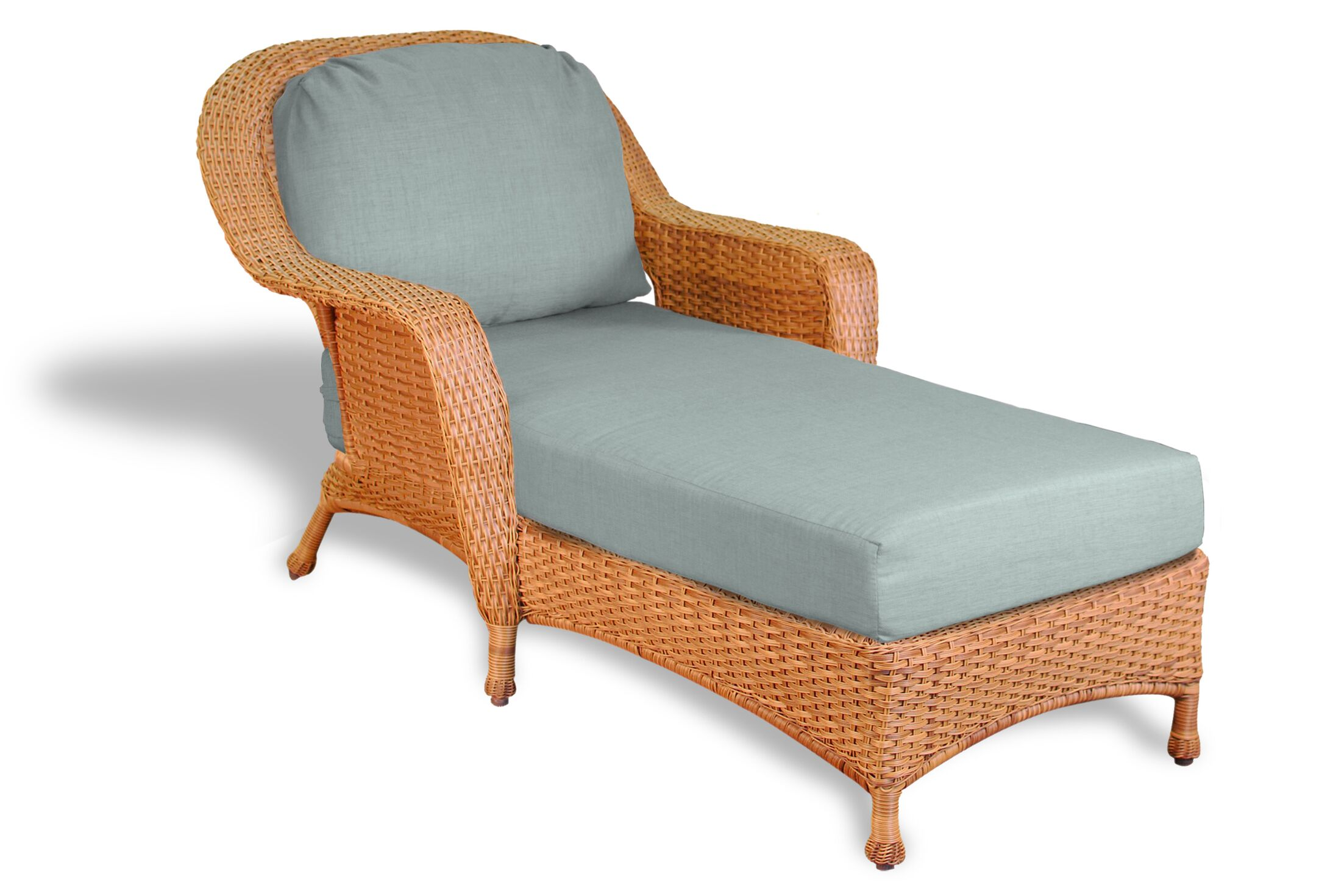 Fleischmann Chaise Lounge with Cushion Fabric: Rave Spearmint, Finish: Mojave