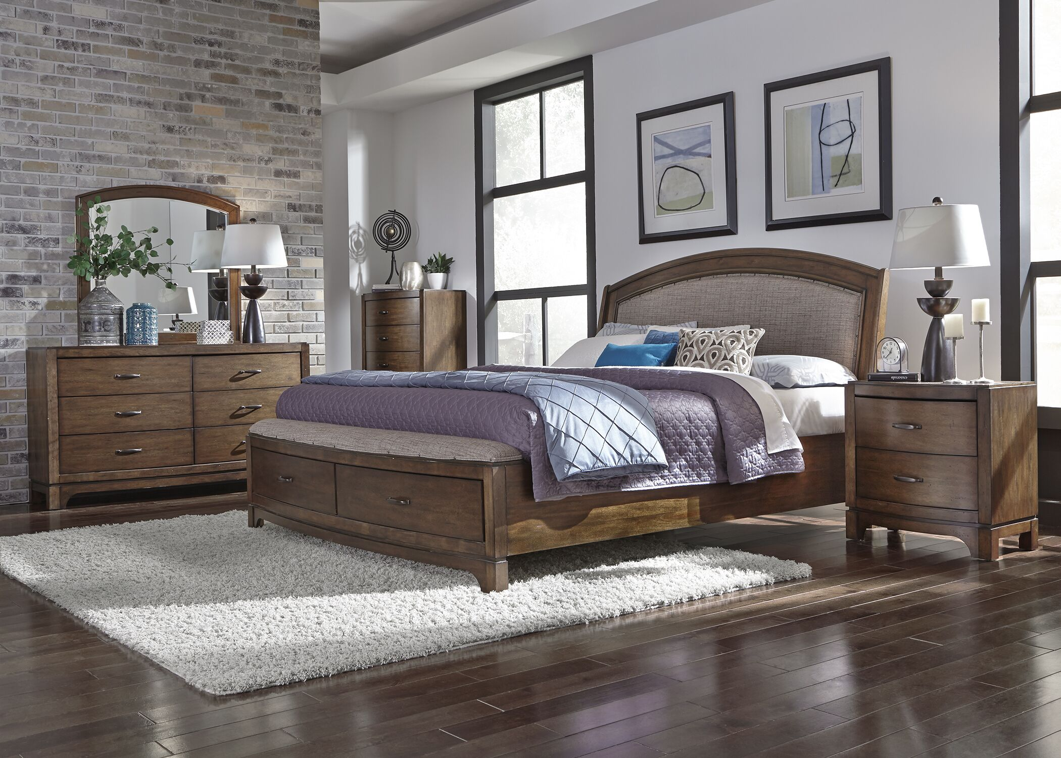 Aranson Upholstered Storage Platform Bed