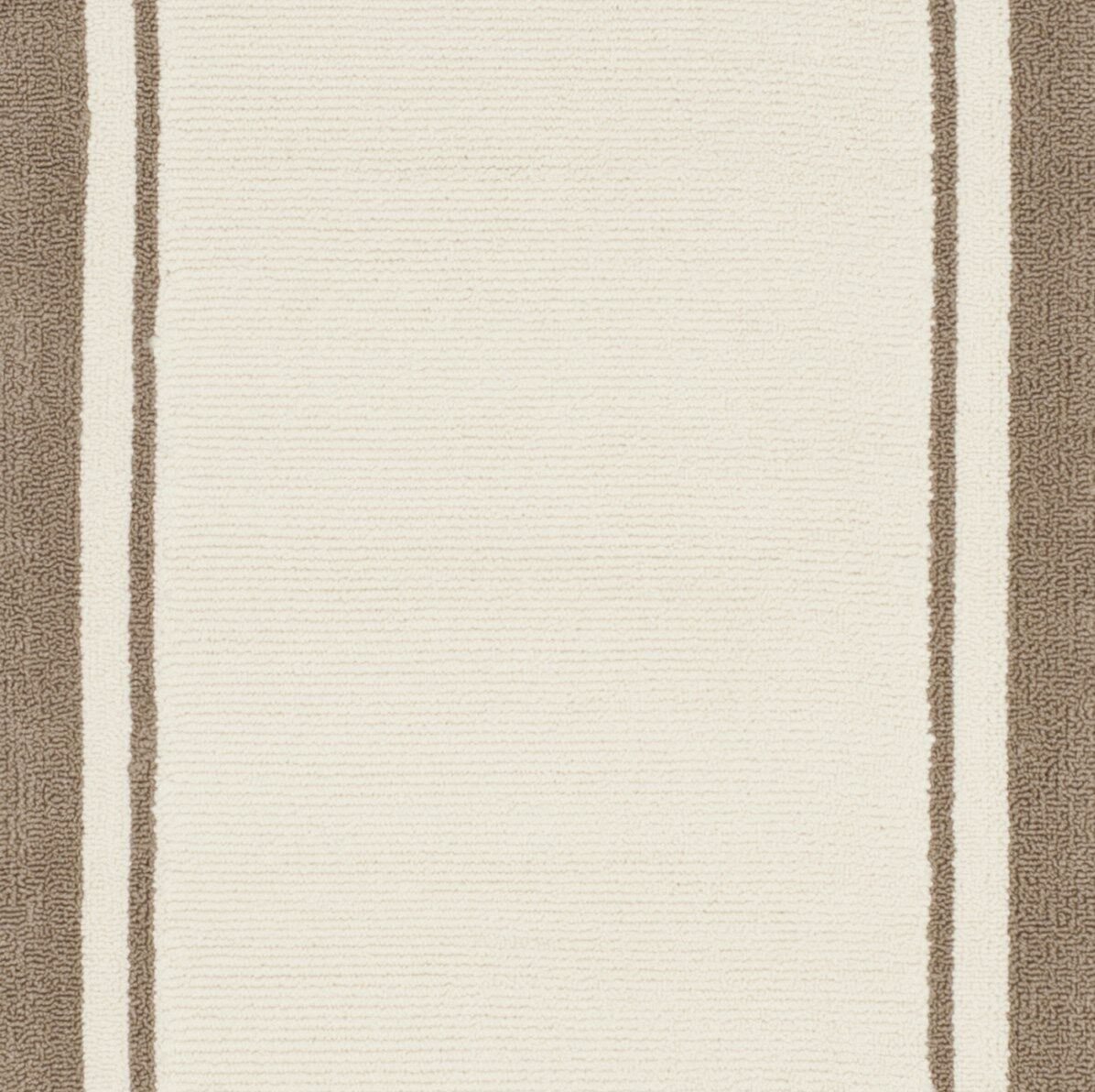 Asher Hand-Made Off Beige/Brown Area Rug Rug Size: Rectangle 9' x 12'