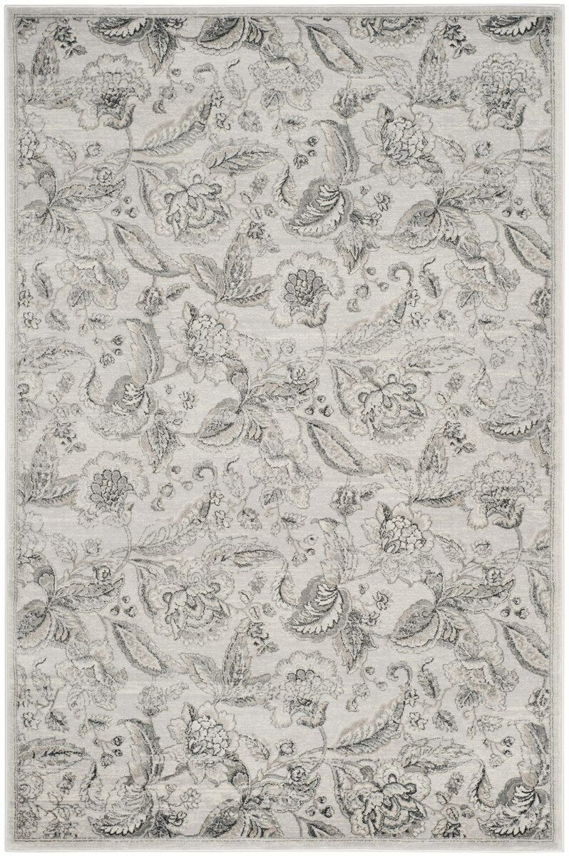 Ashford Silver/Gray Area Rug Rug Size: Rectangle 9' x 12'