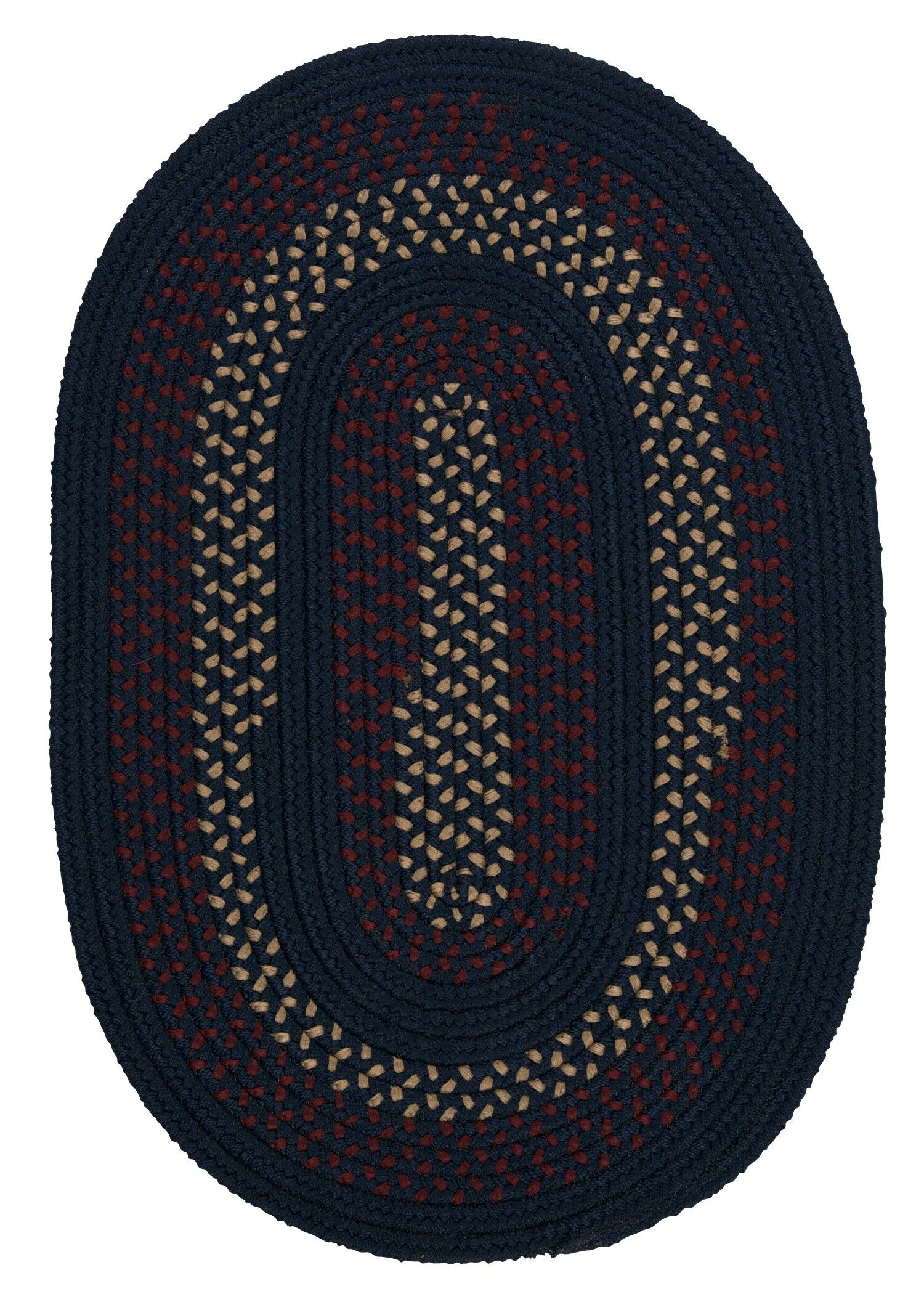 Omaha Midnight Blue Indoor/Outdoor Area Rug Rug Size: Oval 8' x 11'