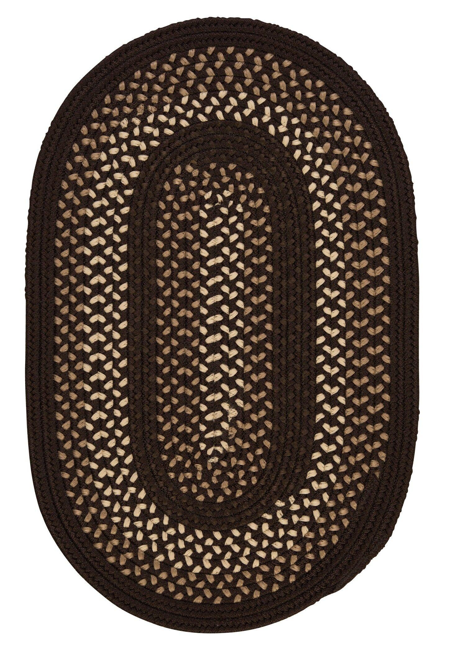 Omaha Seal Brown Indoor/Outdoor Area Rug Rug Size: Oval 4' x 6'