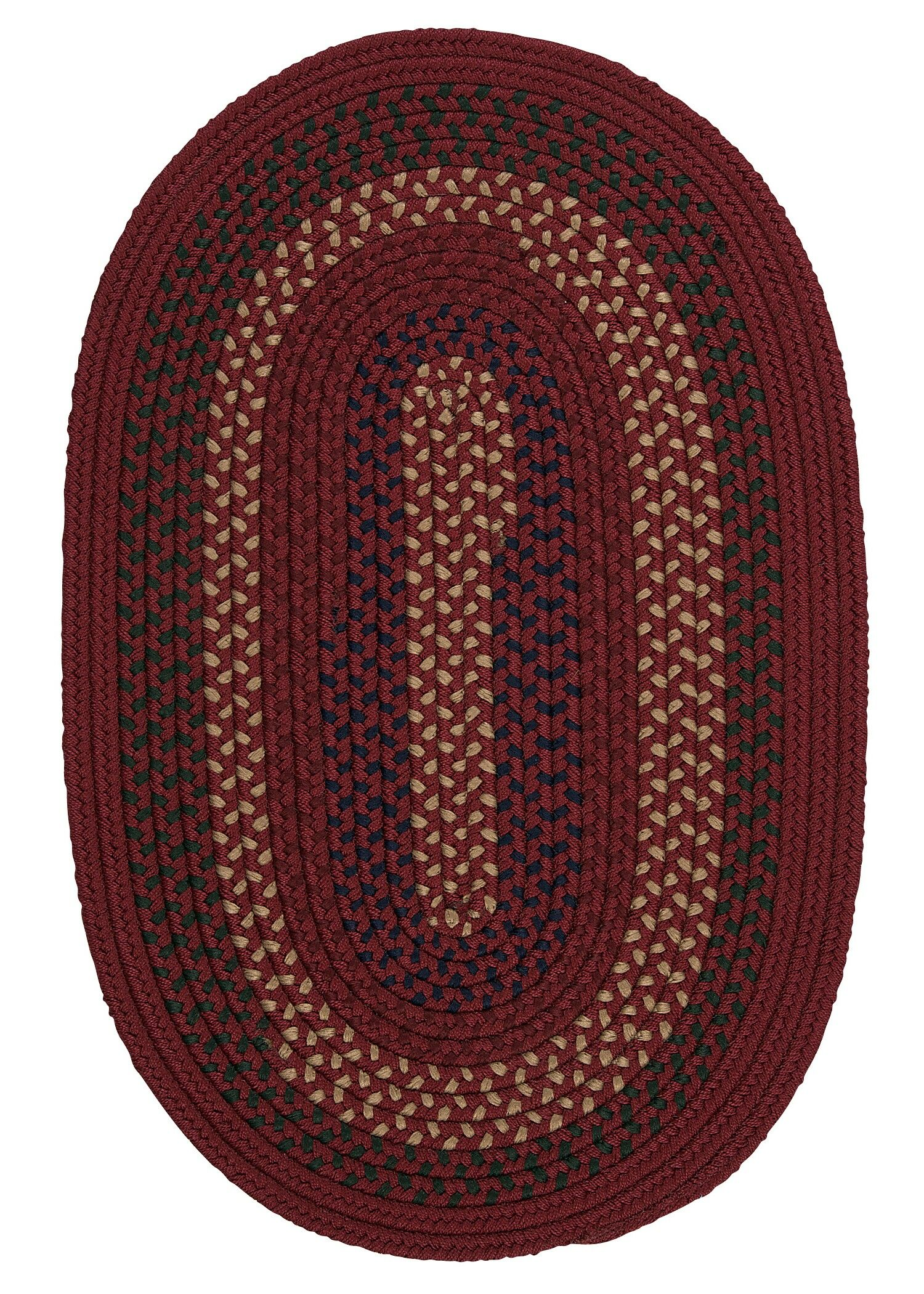 Omaha Deep Russet Indoor/Outdoor Area Rug Rug Size: Oval 4' x 6'
