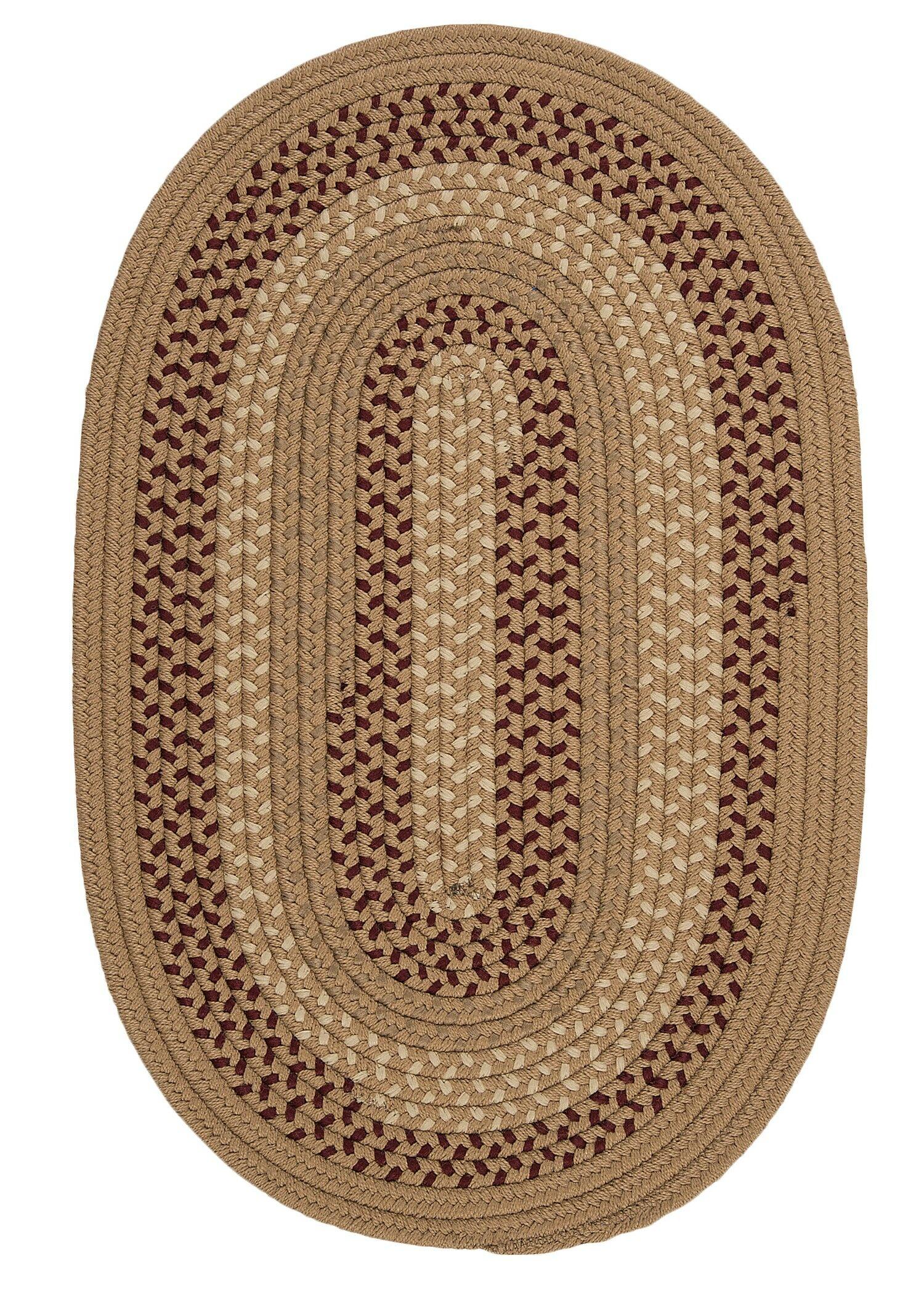 Omaha Taupe Indoor/Outdoor Area Rug Rug Size: Oval 3' x 5'