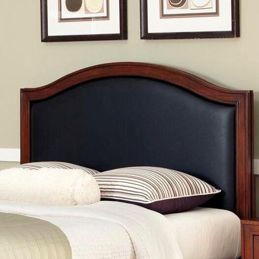 Myra Upholstered Panel Headboard Color: Black