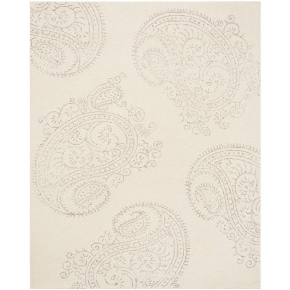 Shillington Hand-Tufted Ivory/Beige Area Rug Rug Size: Rectangle 4' x 6'