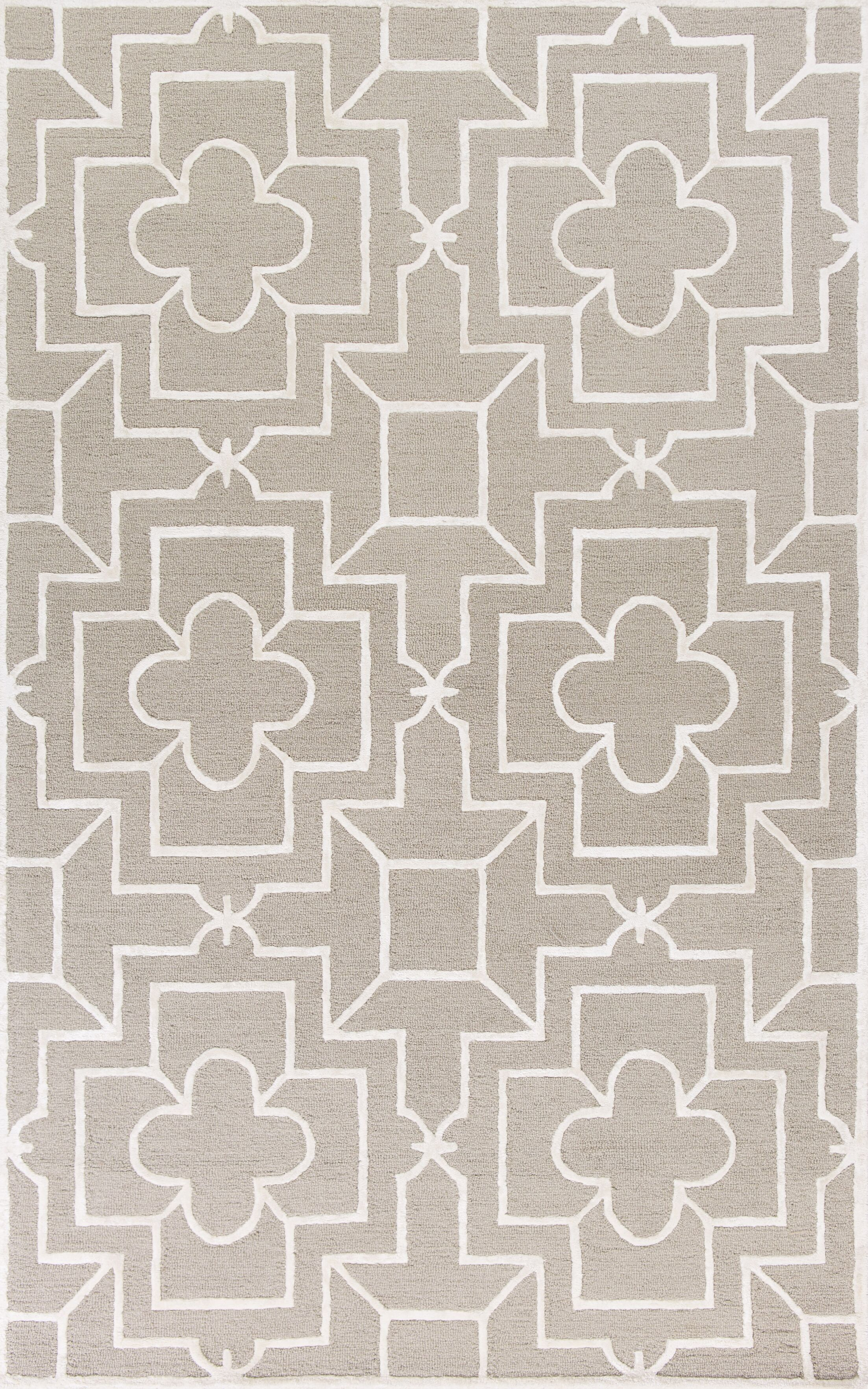 Che Hand-Tufted Beige/Gray Area Rug Rug Size: Rectangle 8' x 10'6