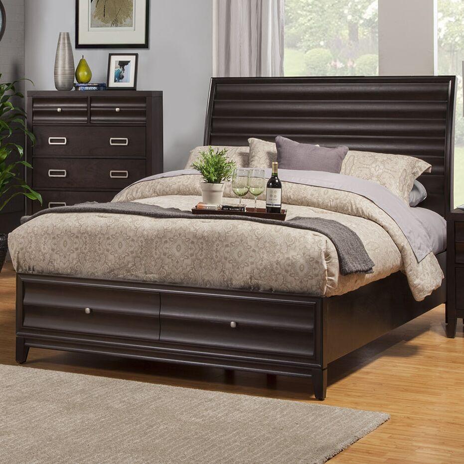 Crystal Storage Platform Bed Size: King