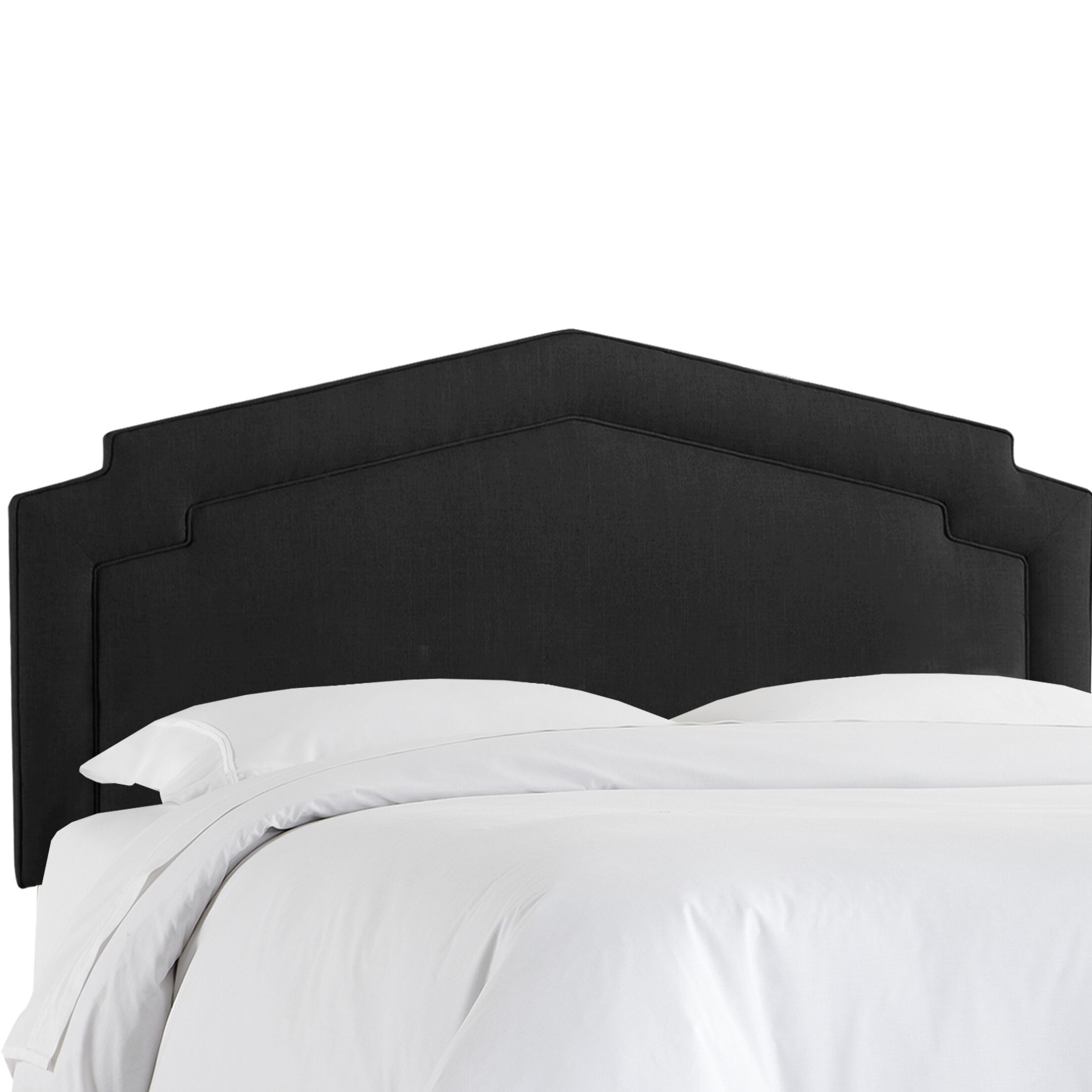 Cynthia Smooth Upholstered Panel Headboard Upholstery Color: Black, Size: Full
