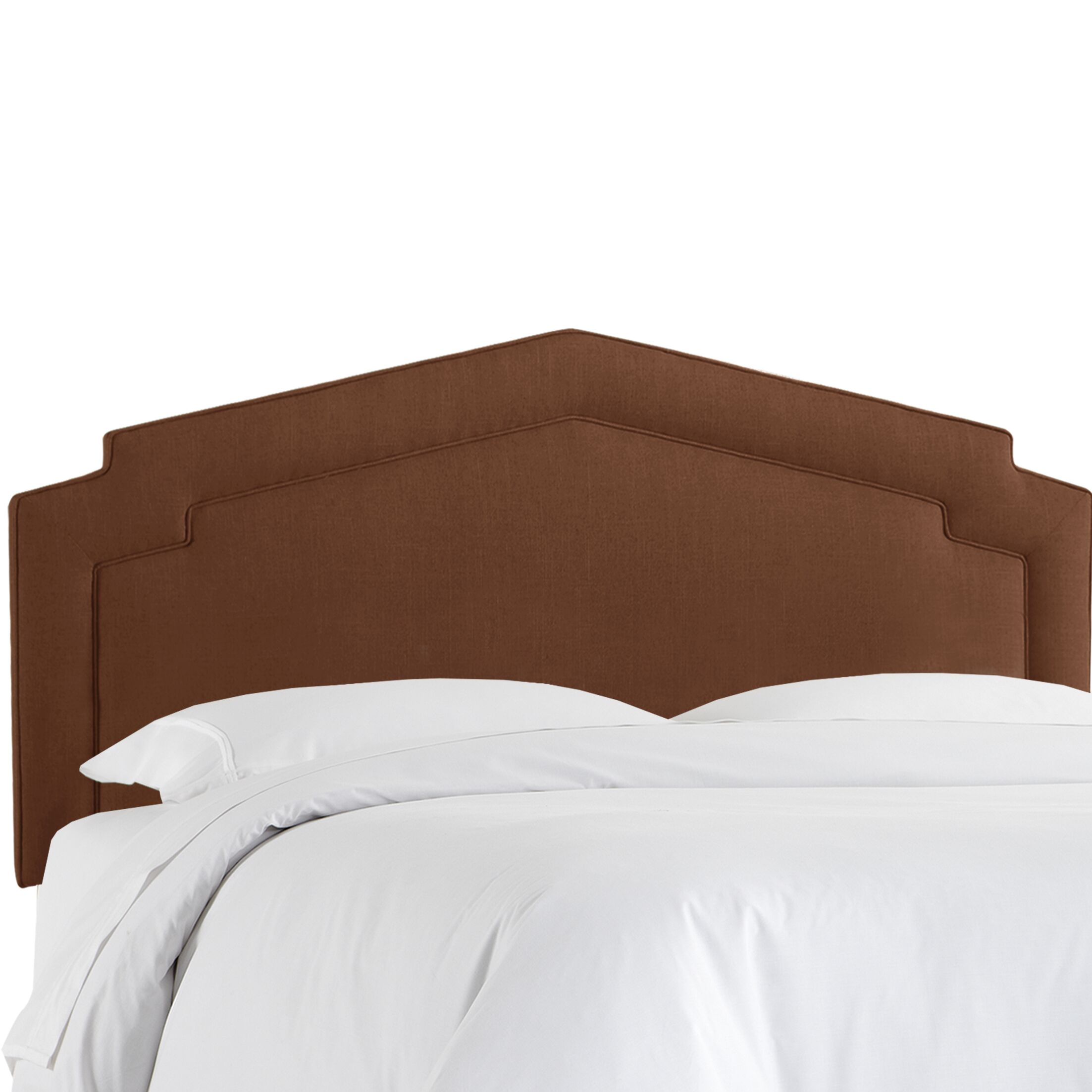 Cynthia Smooth Upholstered Panel Headboard Size: Queen, Upholstery Color: Chocolate