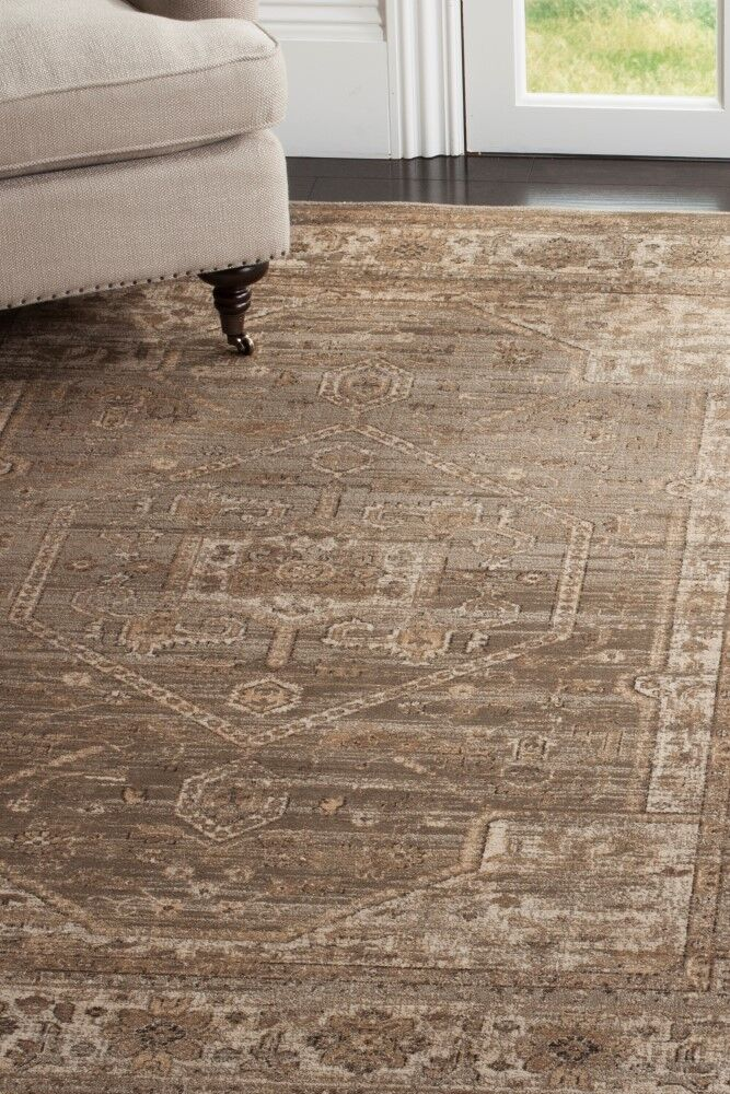 Ercole Mouse Wool Area Rug Rug Size: Rectangle 8'10