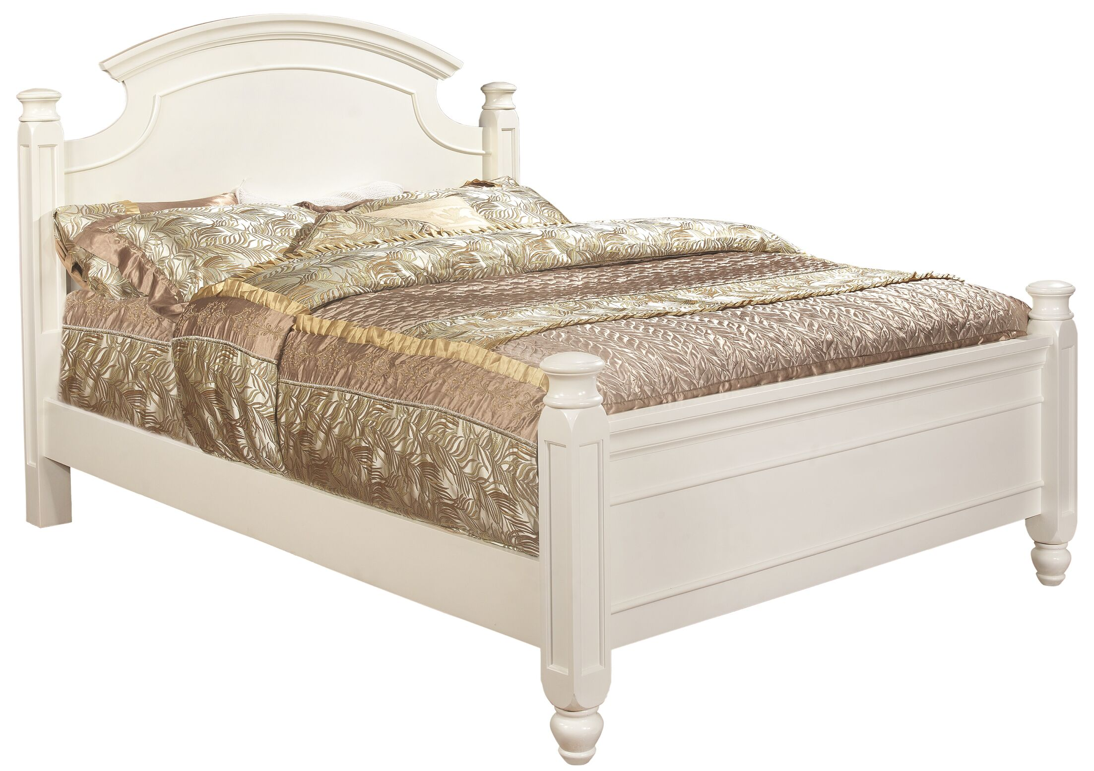 Daley Panel Bed Size: Queen, Color: White
