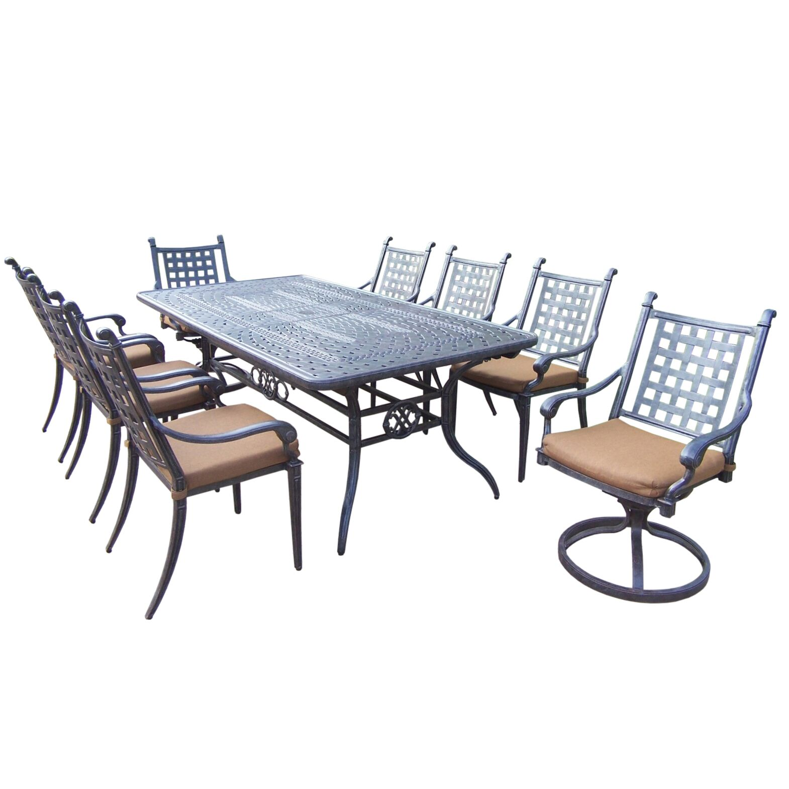 Arness 14 Piece Bar Height Dining Set Table Size: 41