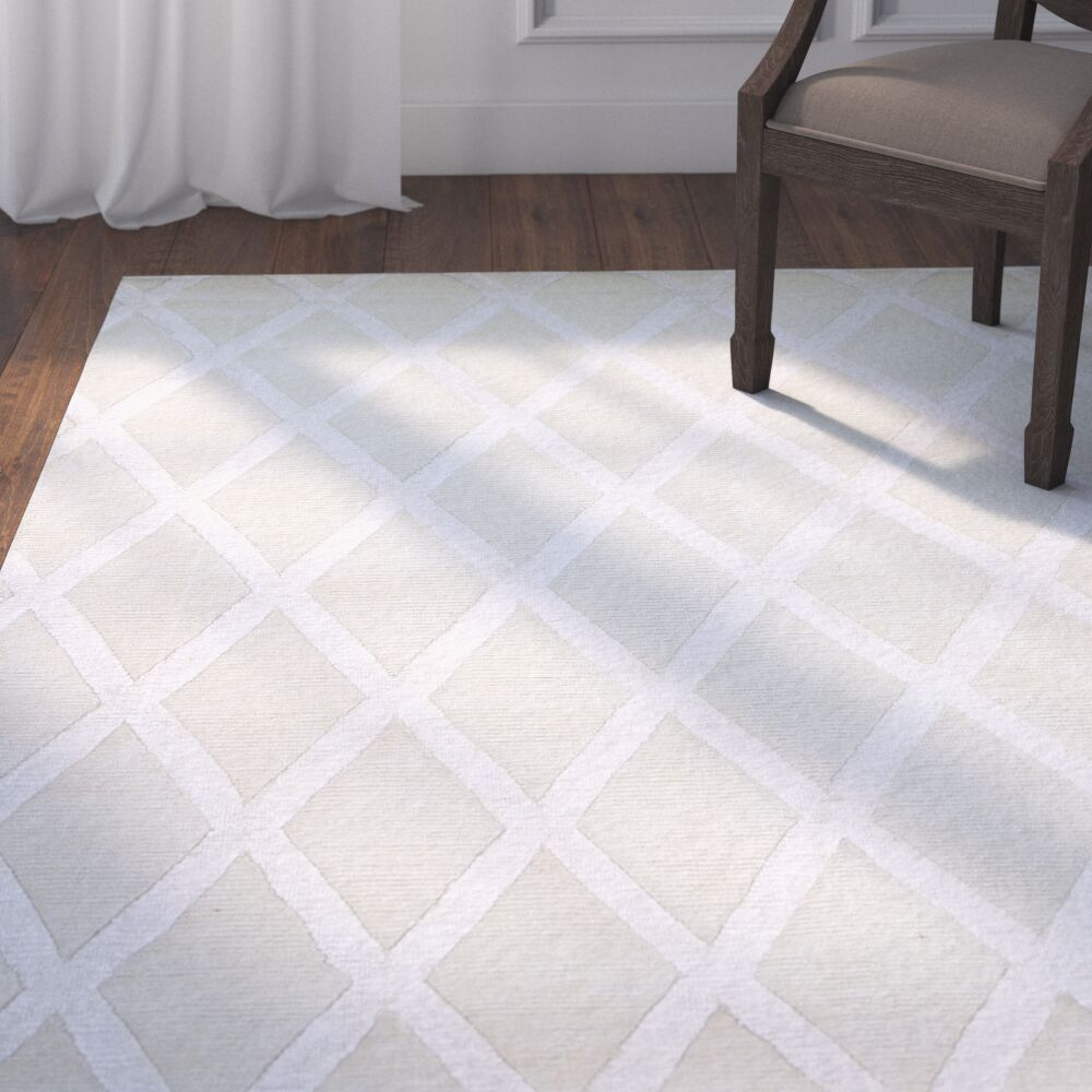 Summerset Hand-Tufted Ivory Area Rug Rug Size: Rectangle 7'9