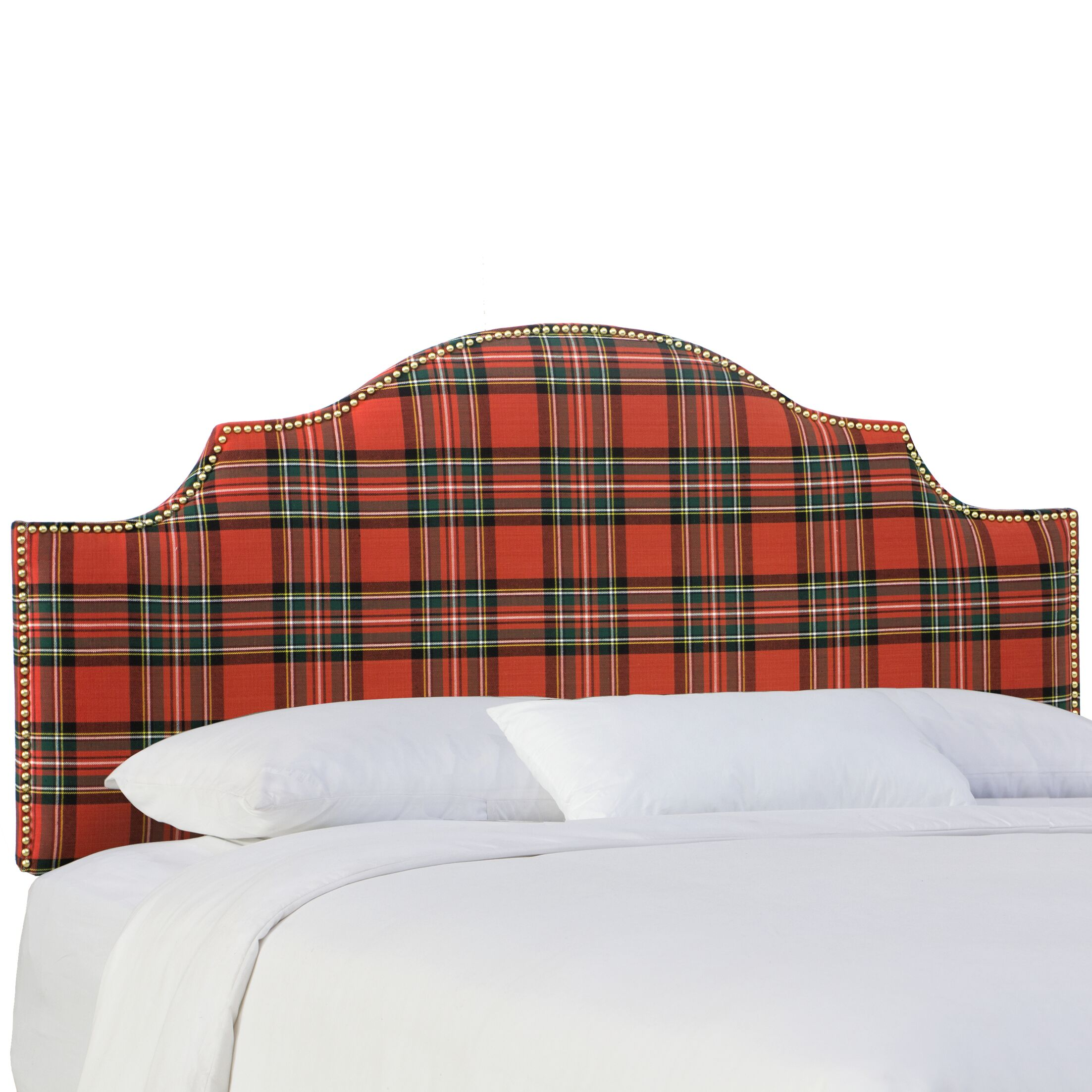 Tilson Upholstered Panel Headboard Size: Queen, Color: Ancient Stewart Red