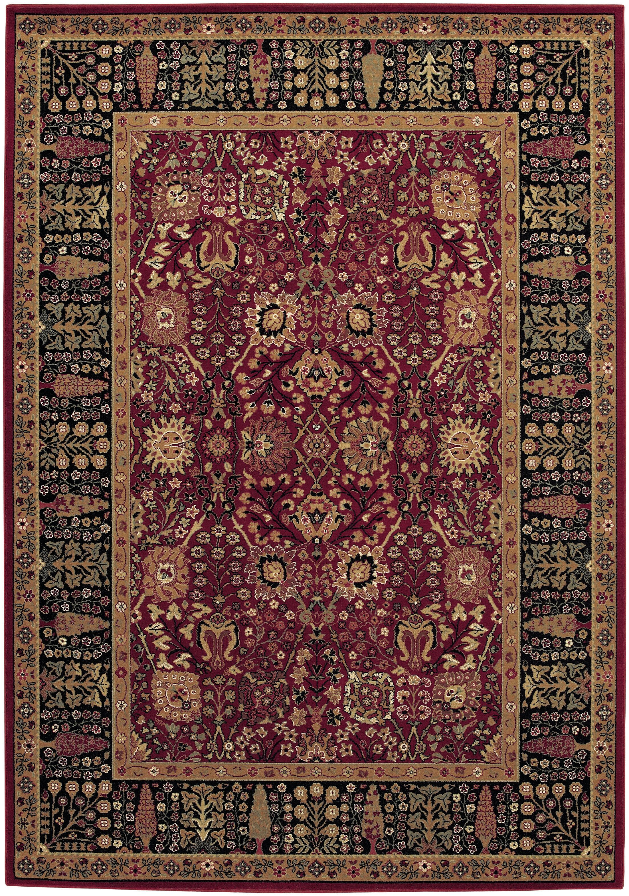 Edwards Red Area Rug Rug Size: Rectangle 7'10