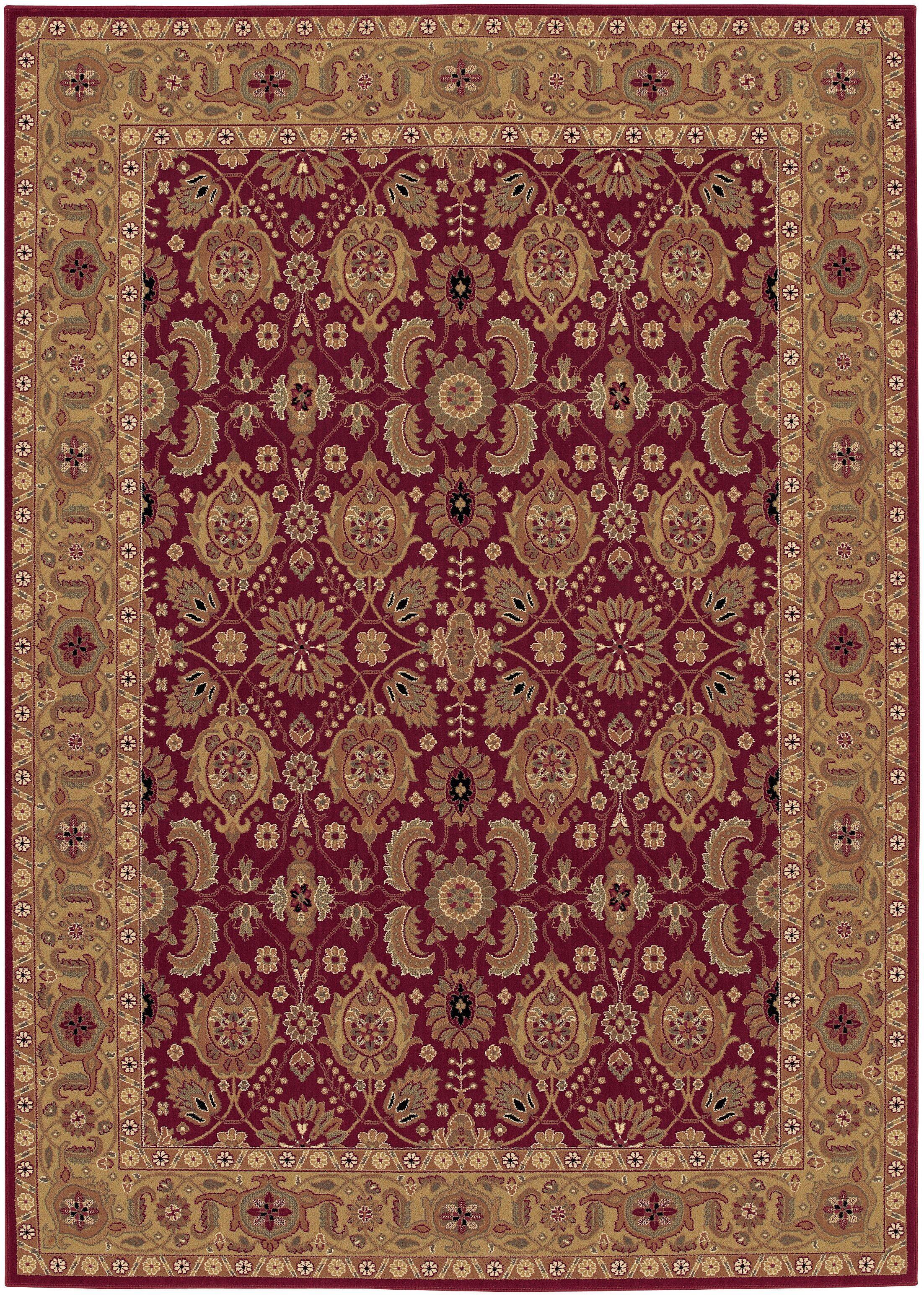 Edwards Red Area Rug Rug Size: Rectangle 6'6