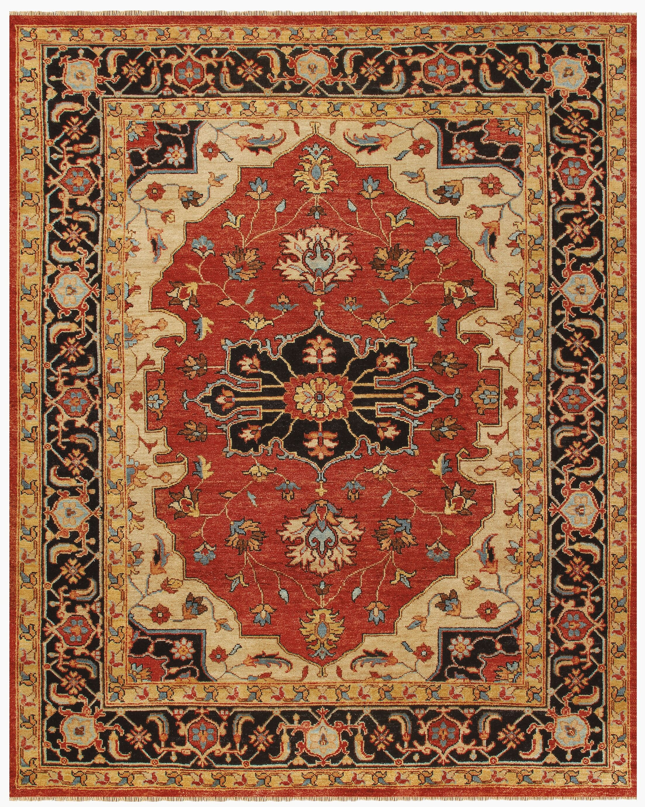 Castine Knotted Wool Red Area Rug Rug Size: Rectangle 2' x 3'