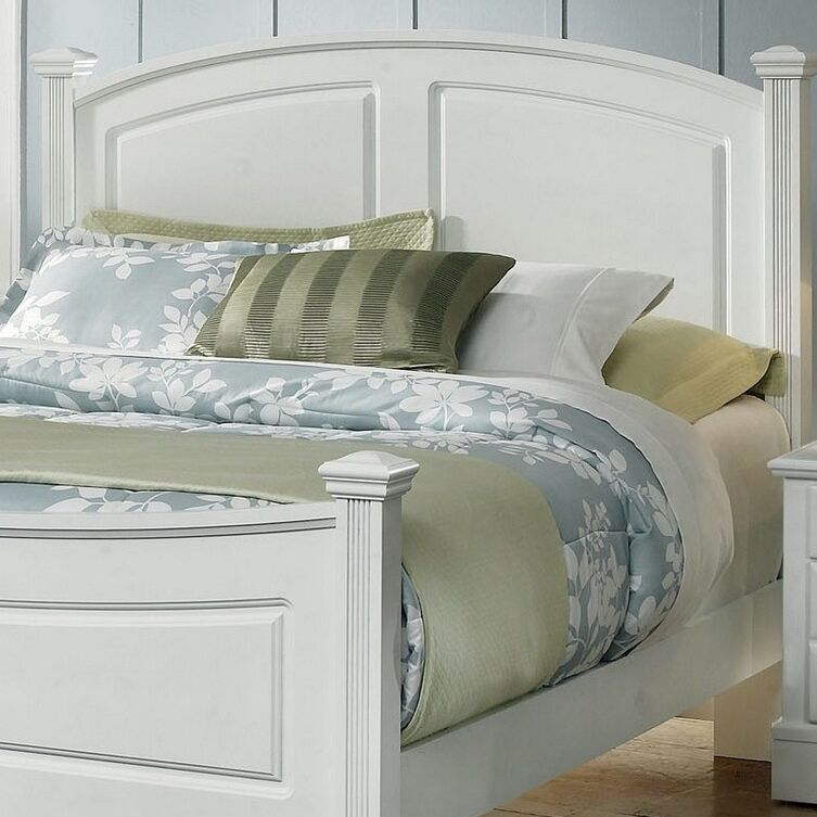 High Meadow Panel Headboard Size: Full, Color: Snow White