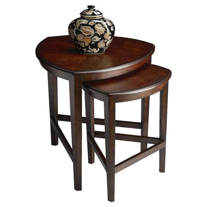 Carey 2 Piece Nesting Tables Color: Chocolate