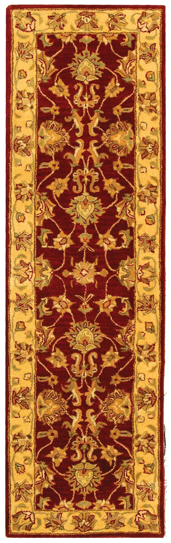 Cranmore Hand-Tufted Wool Red/Gold  Area Rug Rug Size: Runner 2'3