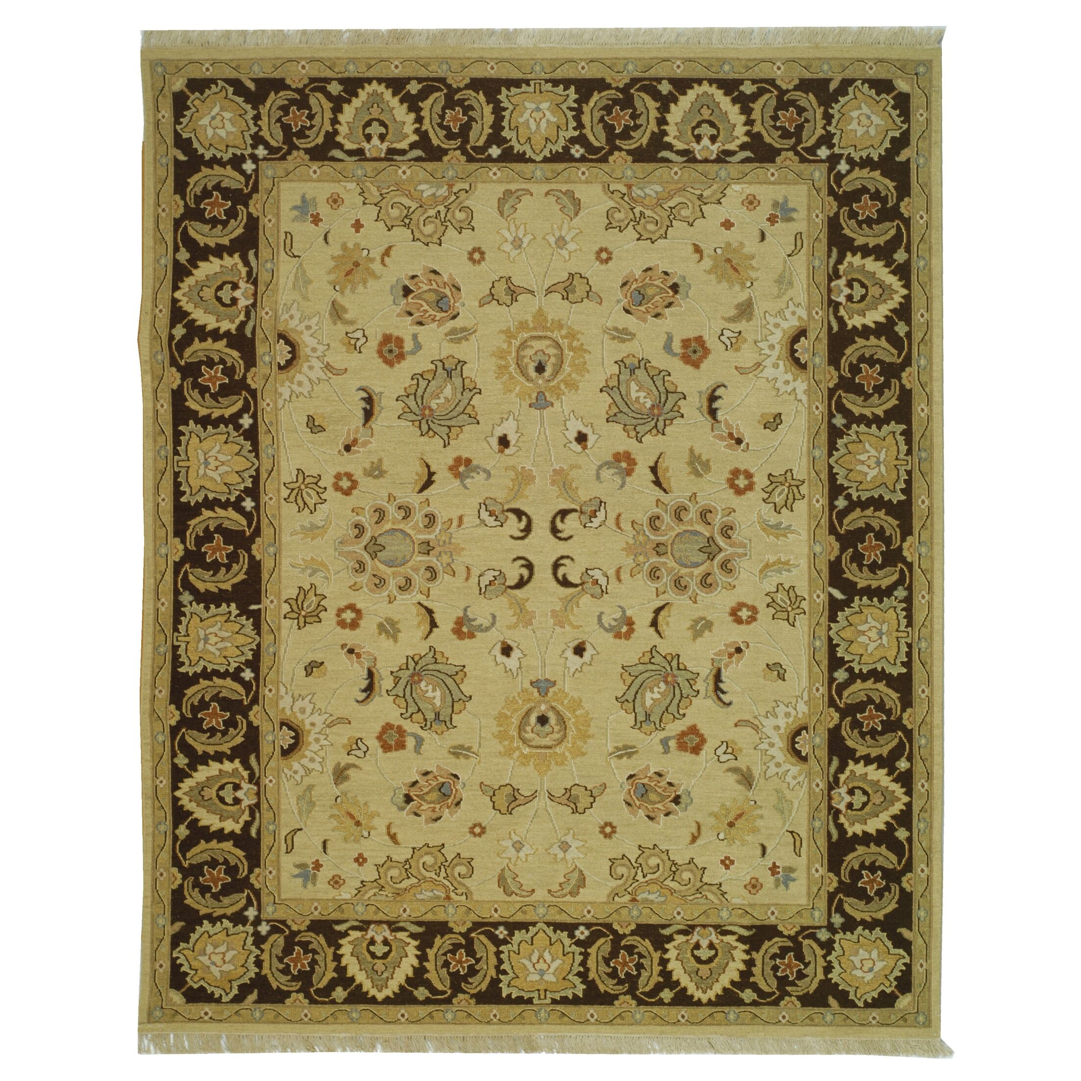 Linwood Ivory/Brown Area Rug Rug Size: Rectangle 8' x 10'