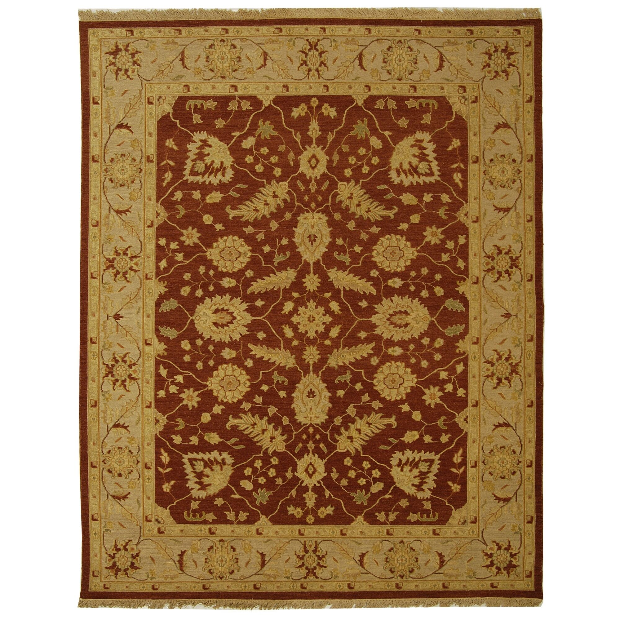 Linwood Red/Gold Area Rug Rug Size: Rectangle 10' x 14'