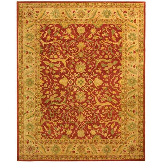 Traver Rust Area Rug Rug Size: Rectangle 9'6