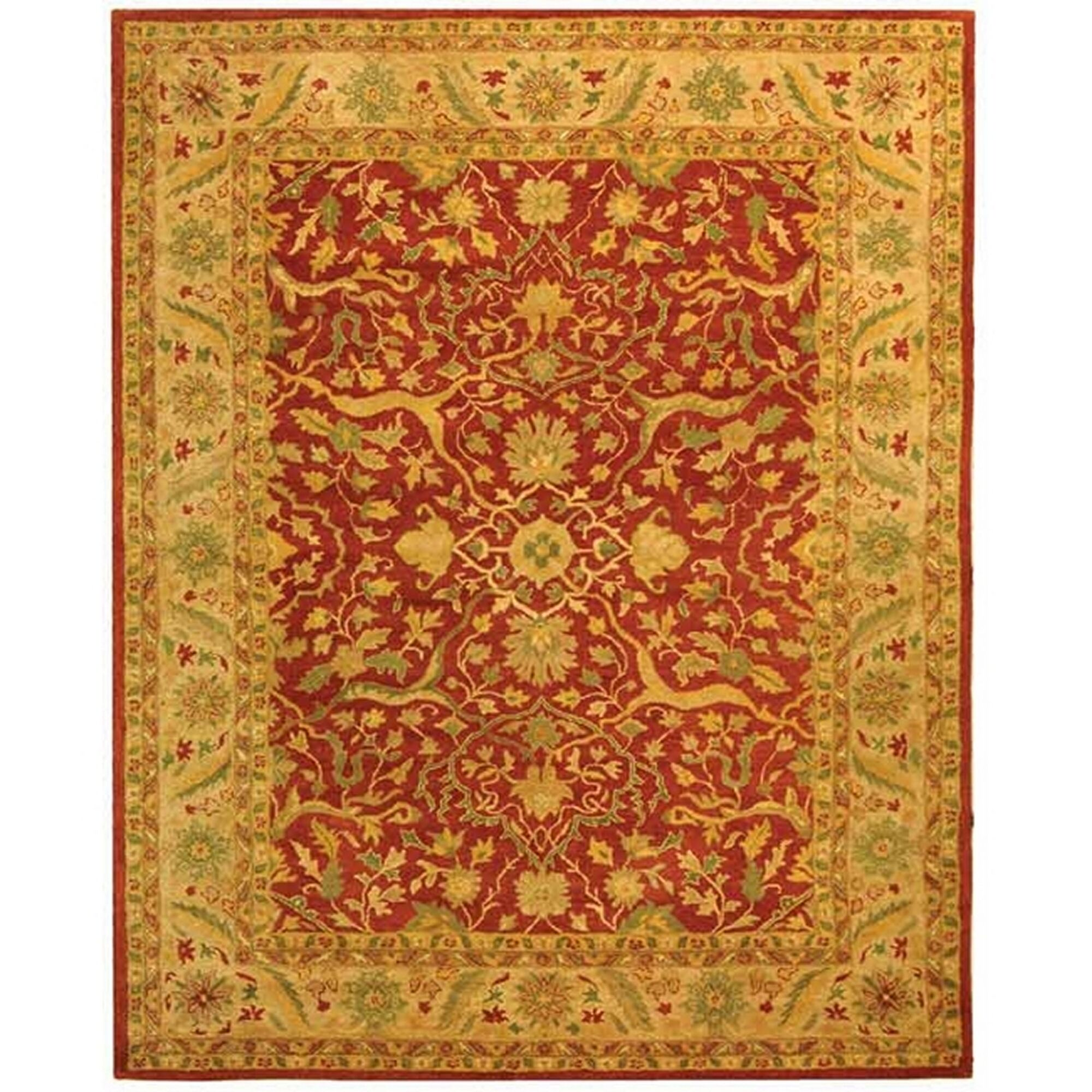 Traver Rust Area Rug Rug Size: Rectangle 11' x 15'