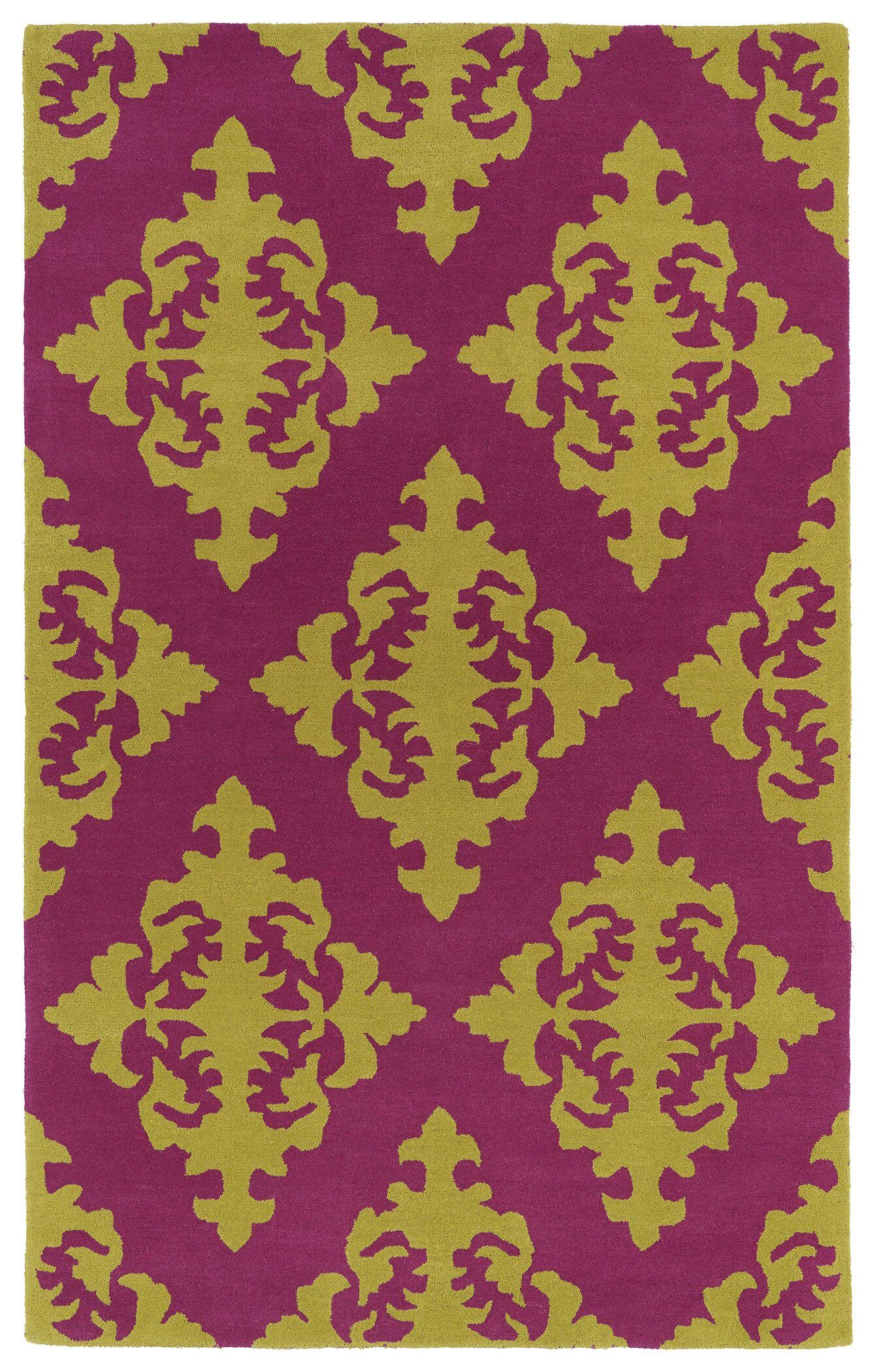 Slovan Pink Area Rug Rug Size: Rectangle 8' x 11'