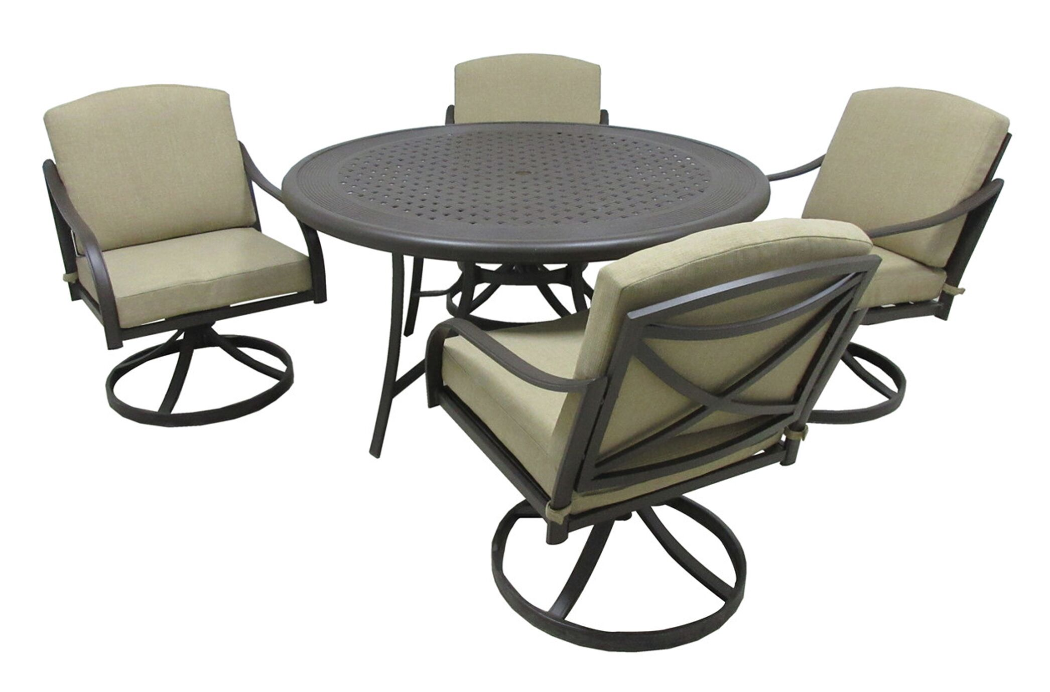Besser 5 Piece Dining Set with Cushions