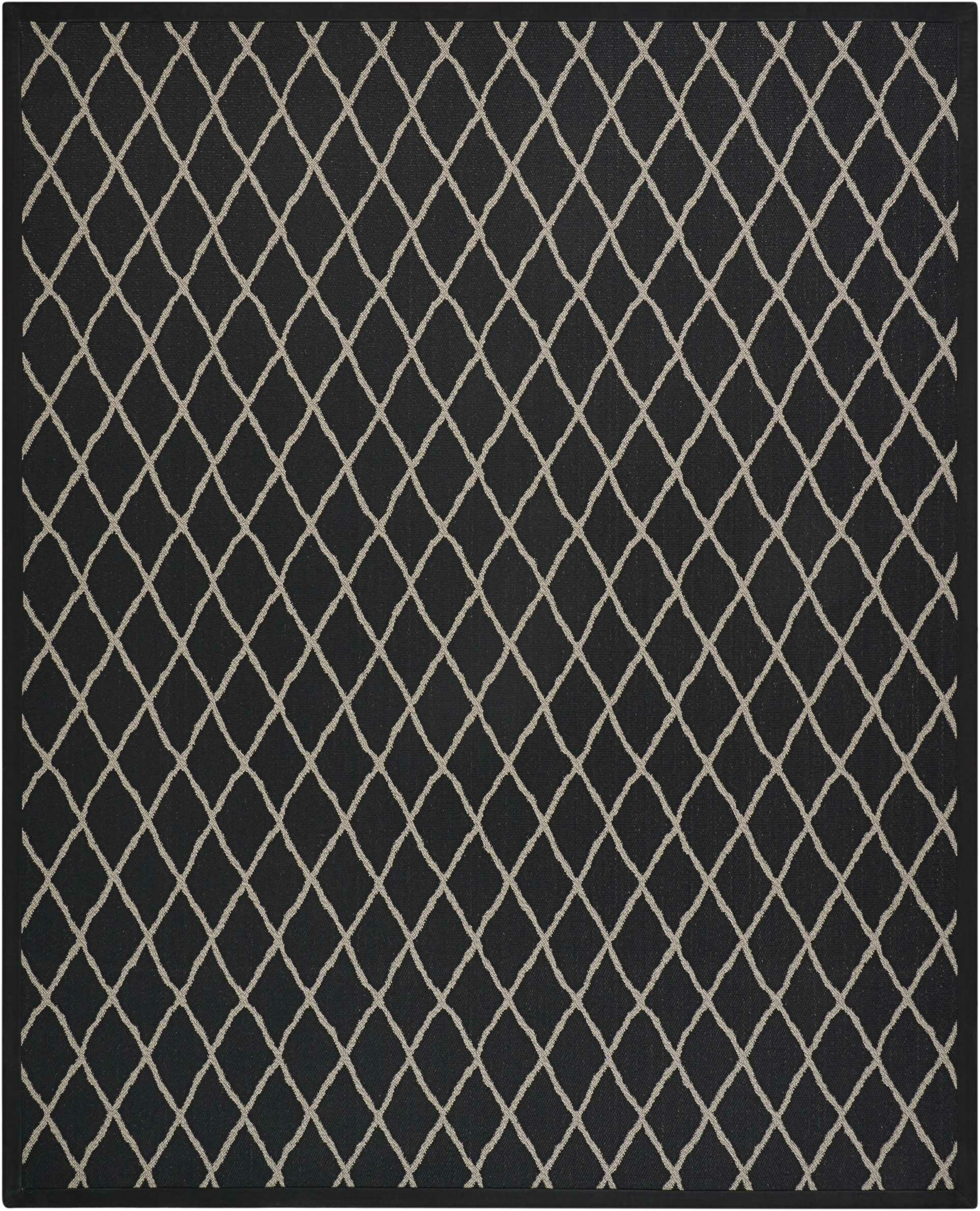 Northridge Black Pearl Indoor/Outdoor Area Rug Rug Size: Rectangle 12' x 15'