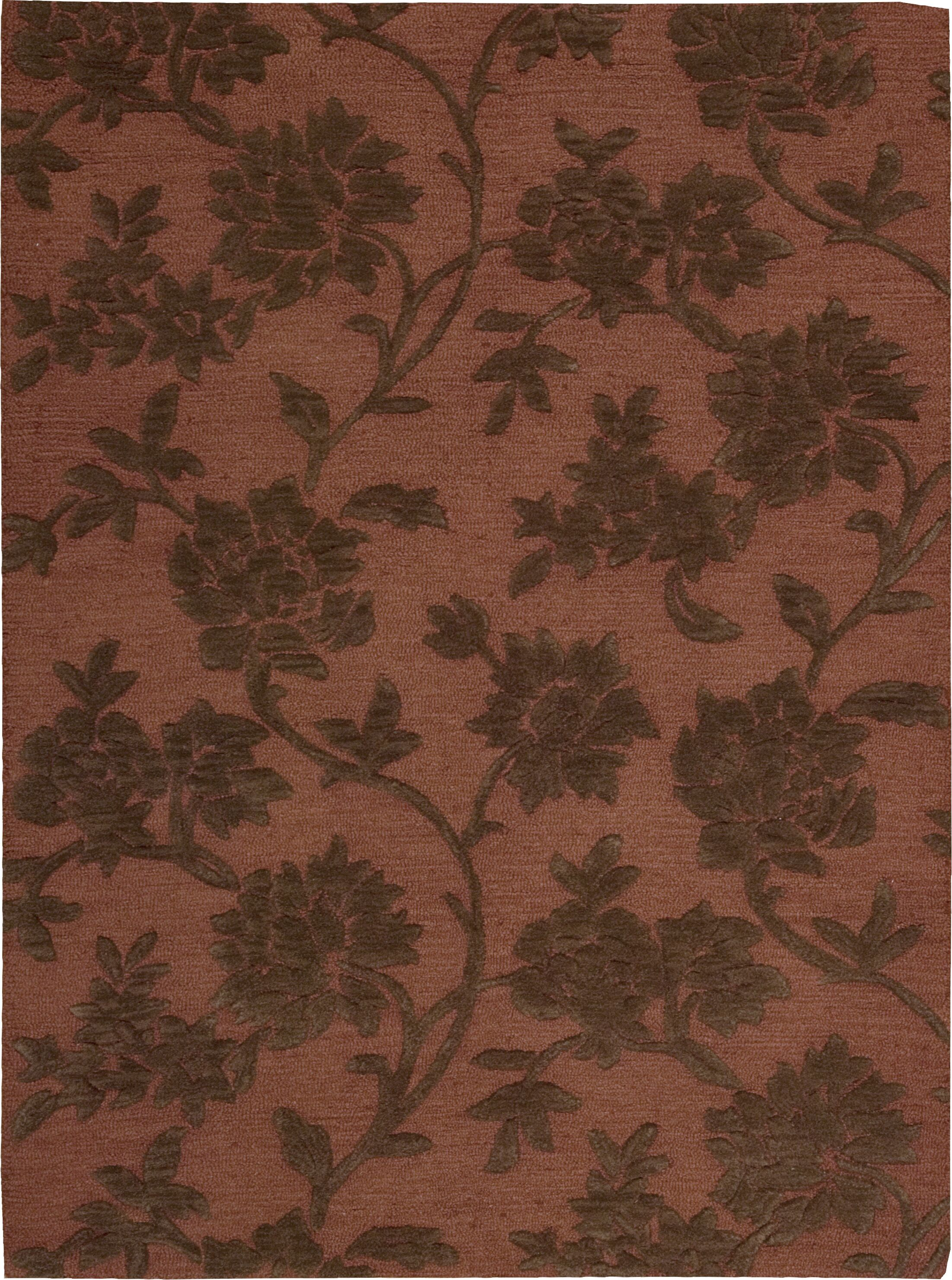 Peterson Hand-Tufted Rust/Brown Area Rug Rug Size: Rectangle 3'6