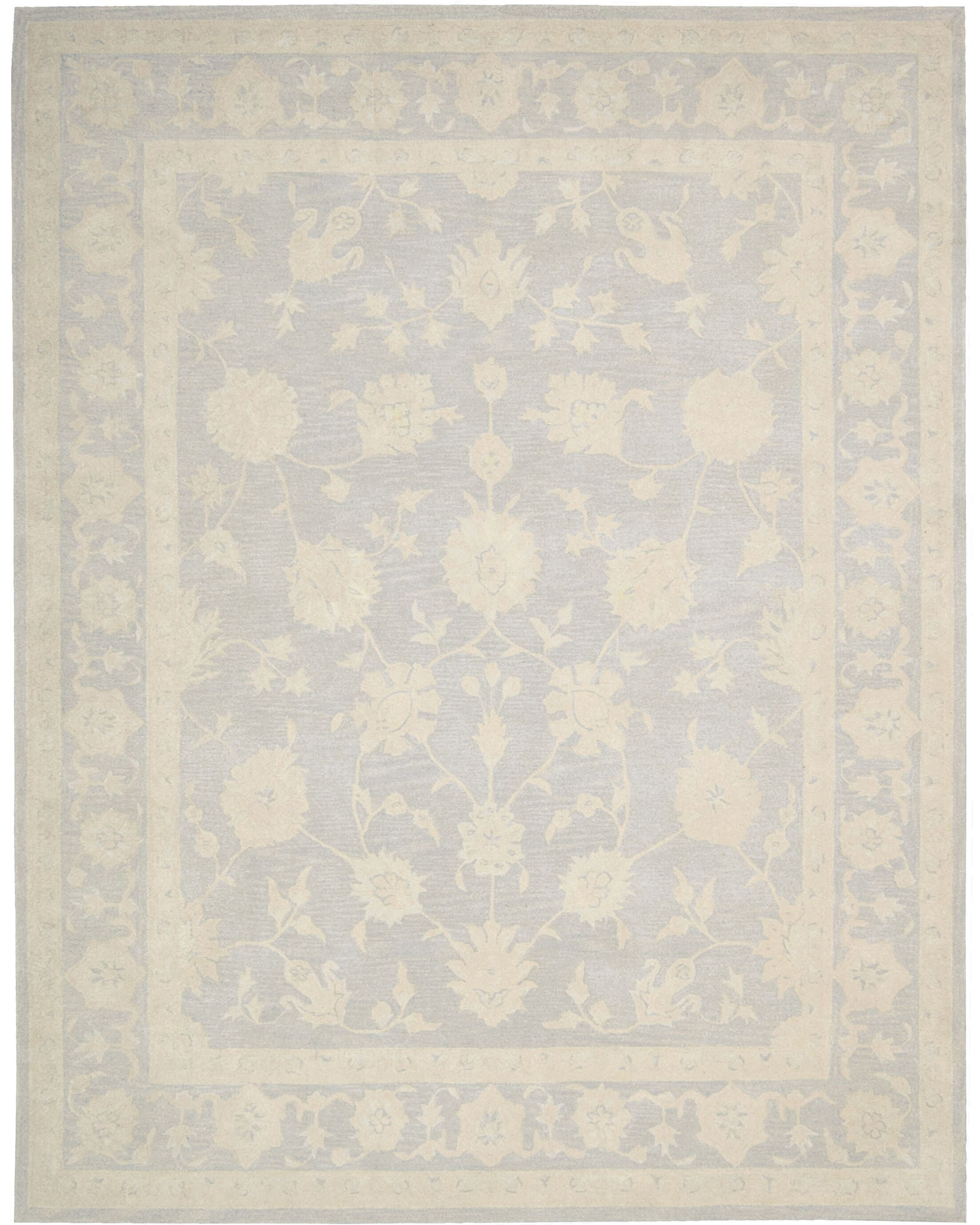 Ridgeville Hand-Tufted Light Blue Area Rug Rug Size: Rectangle 3'9