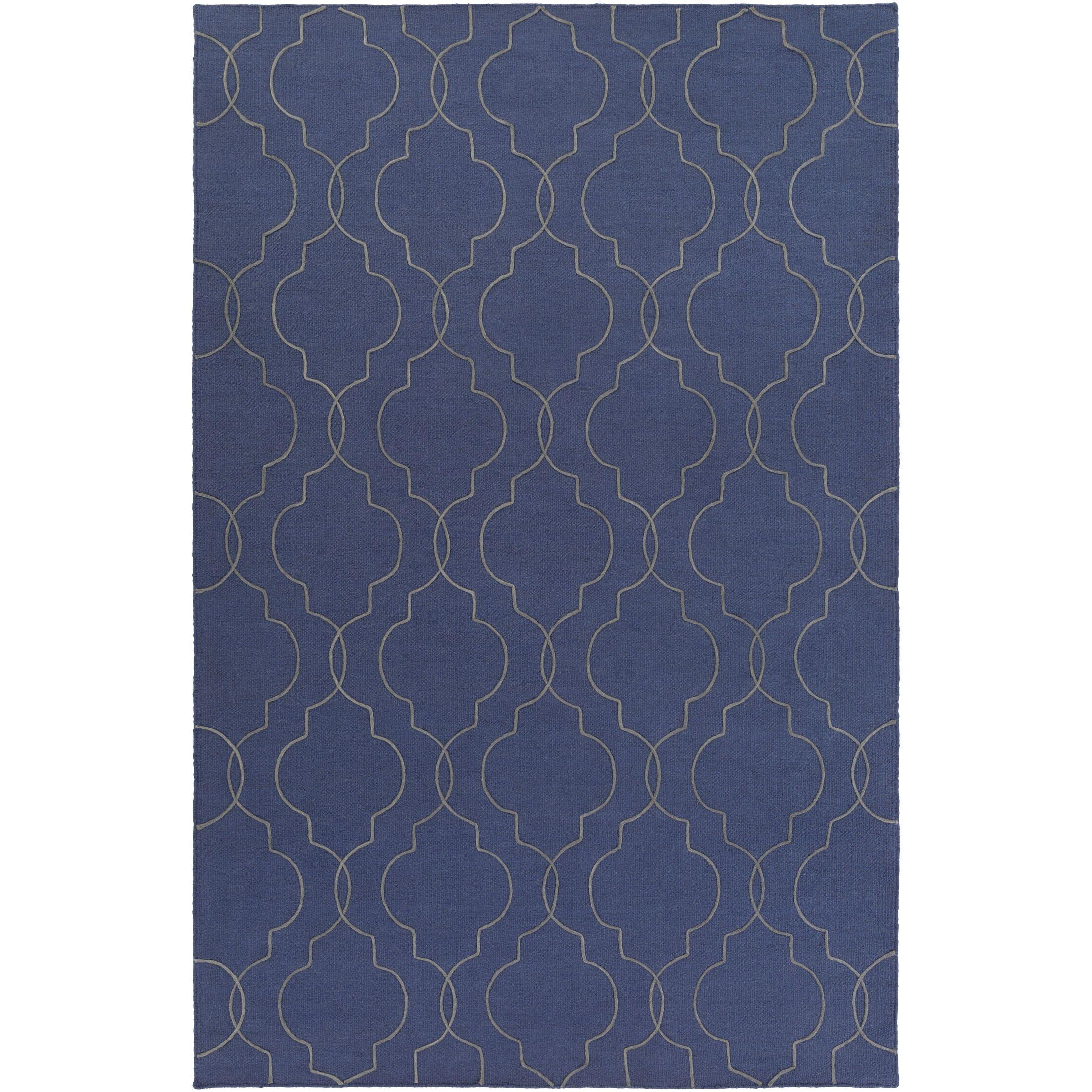 Amenia Hand-Woven Dark Blue Area Rug Rug Size: Rectangle 5' x 7'6