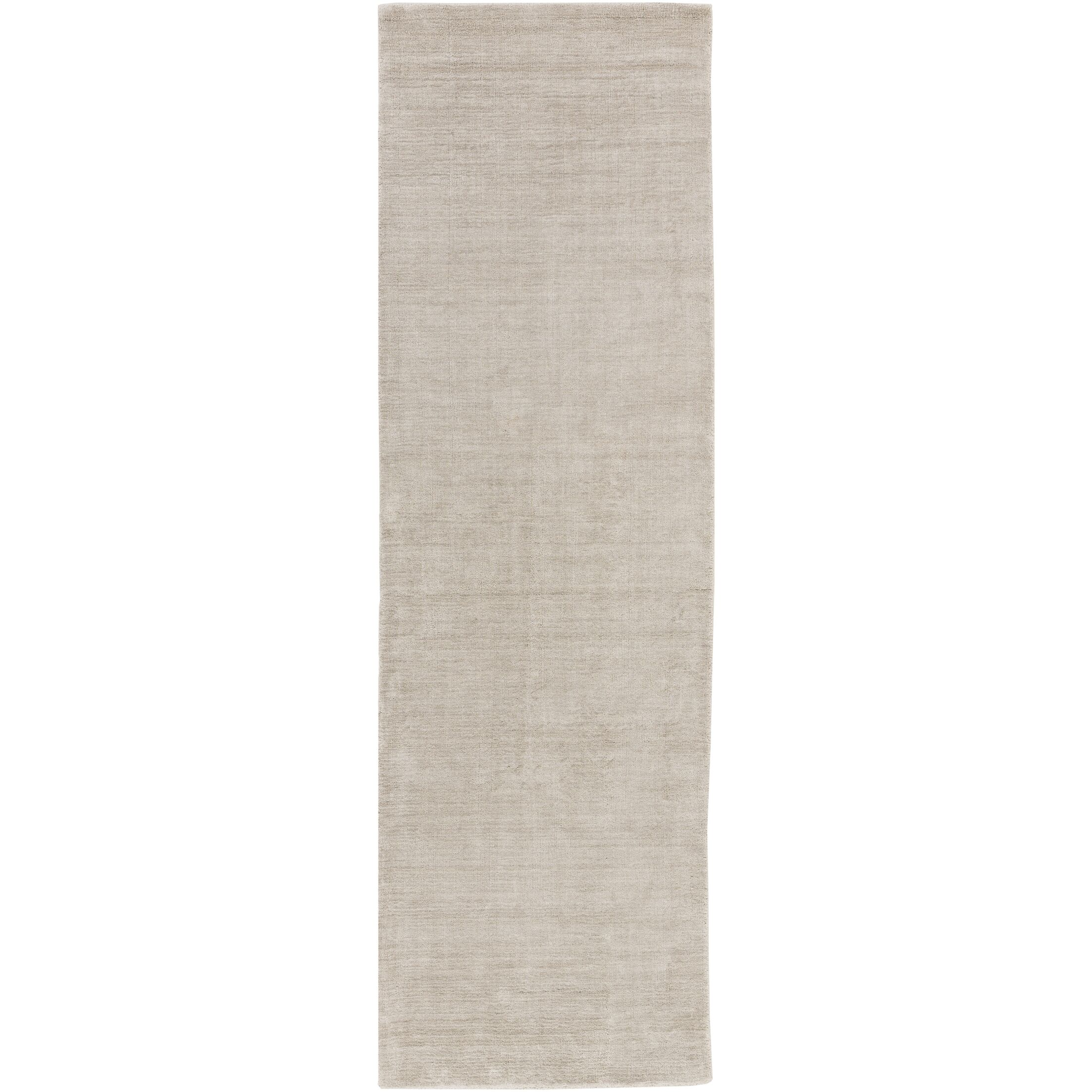 Racine Hand-Loomed Light Gray Area Rug Rug Size: Runner 2'6