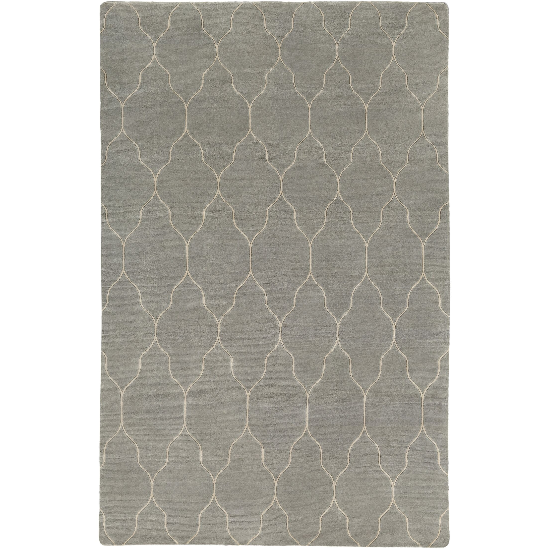 Moreton Hand-Knotted Neutral Area Rug Rug Size: Rectangle 9' x 13'