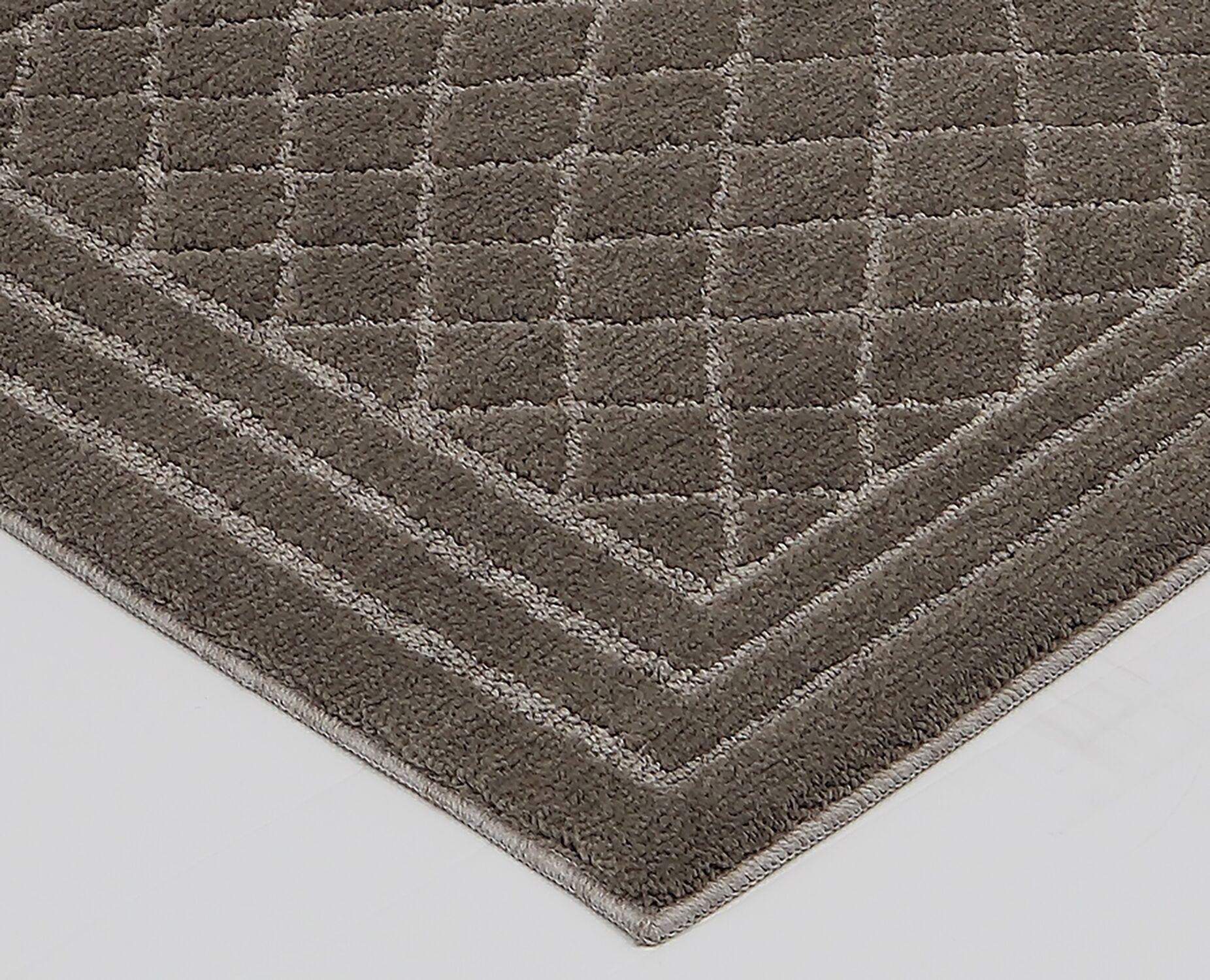 Nordham Brown Area Rug Rug Size: Rectangle 1'8