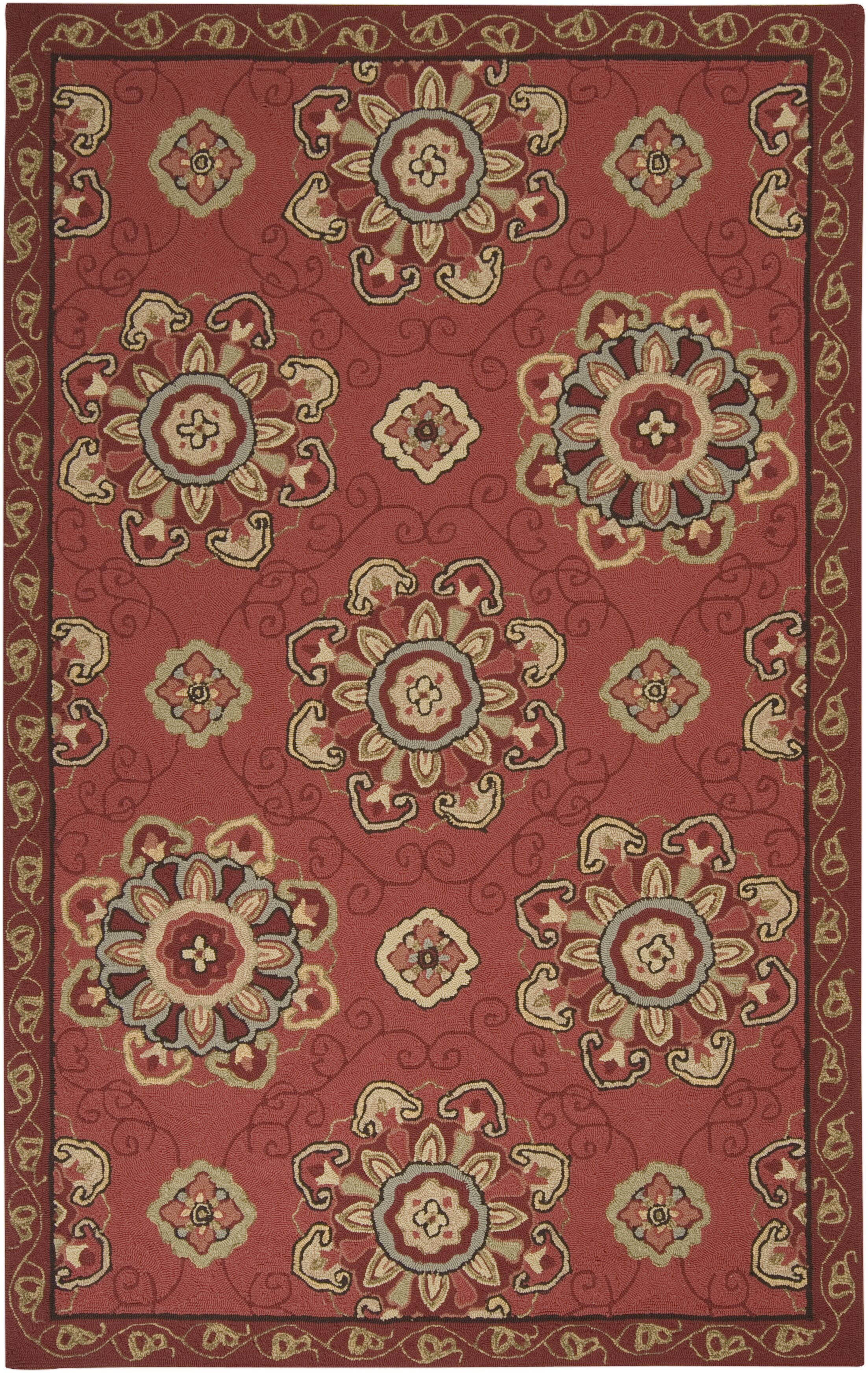 Vickery Red Clay Indoor/Outdoor Rug Rug Size: Rectangle 5' x 8'