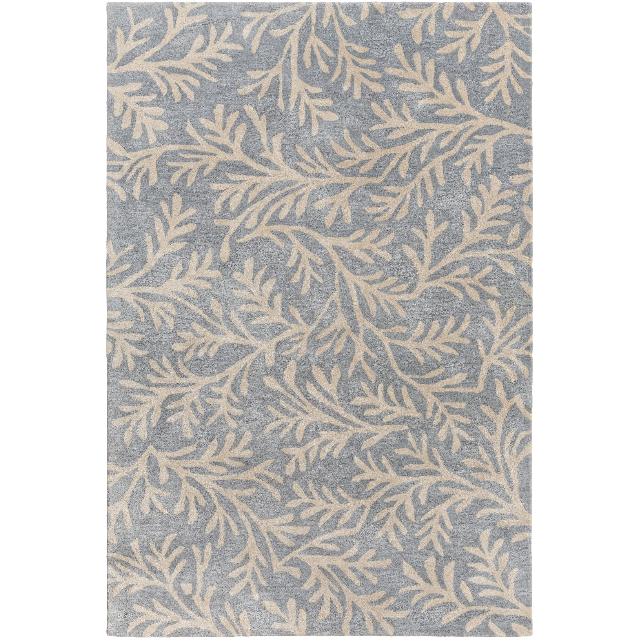 Grant Hand-Tufted Denim/Cream Area Rug Rug Size: Runner 2'6