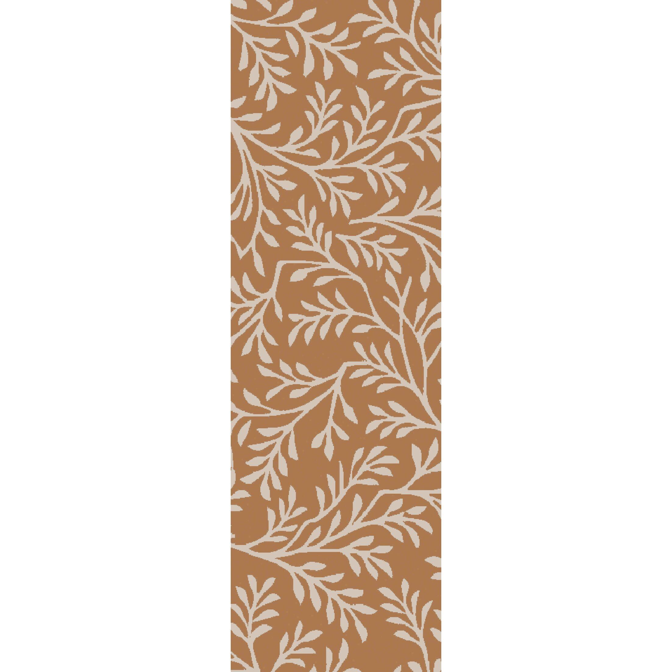 Grant Hand-Tufted Burnt Orange/Beige Area Rug Rug Size: Rectangle 8' x 11'