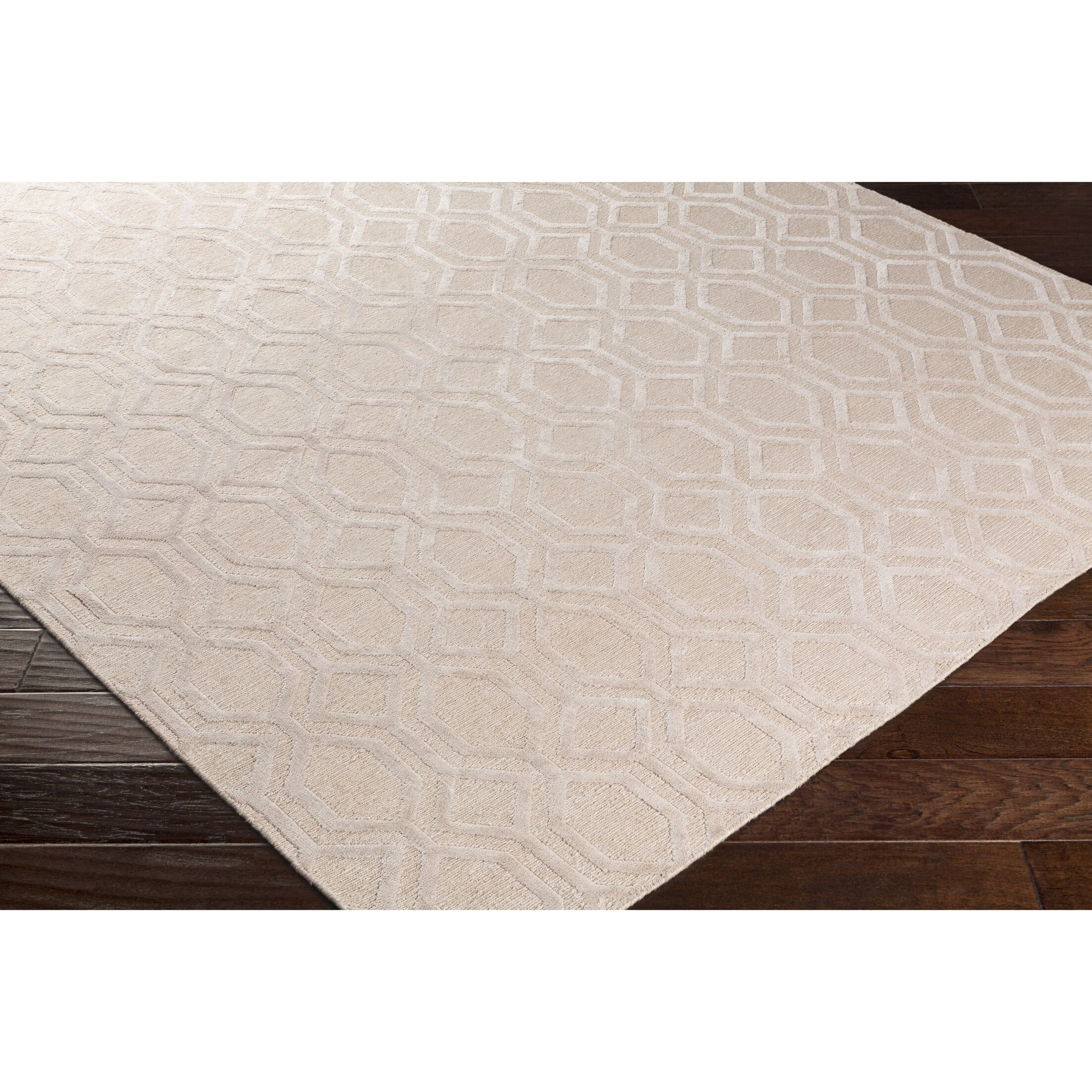 Barrville Hand-Knotted Pink Area Rug Rug Size: Rectangle 2' x 3'