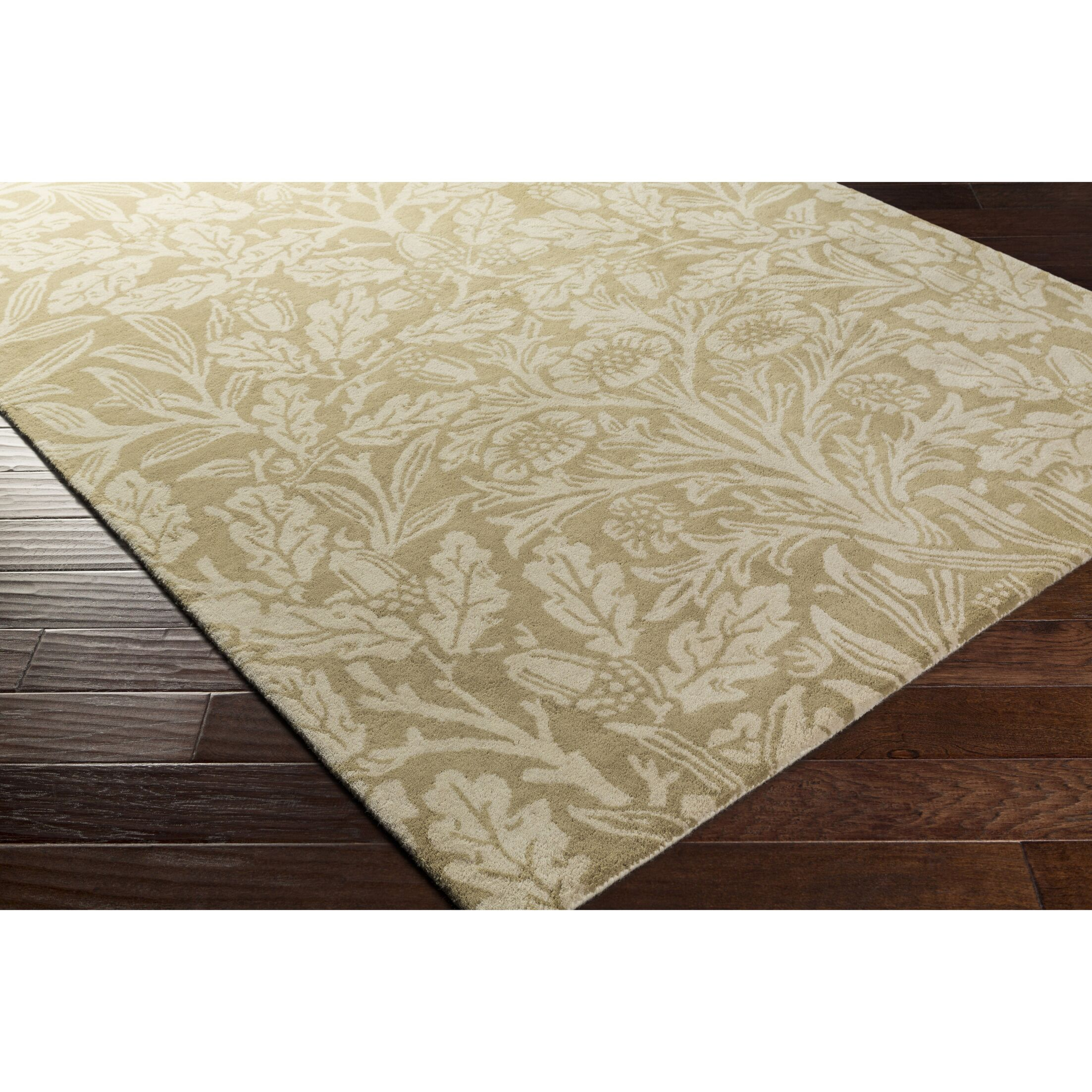 Oneill Hand-Tufted Wool Green/Neutral Area Rug Rug Size: Rectangle 8' x 11'