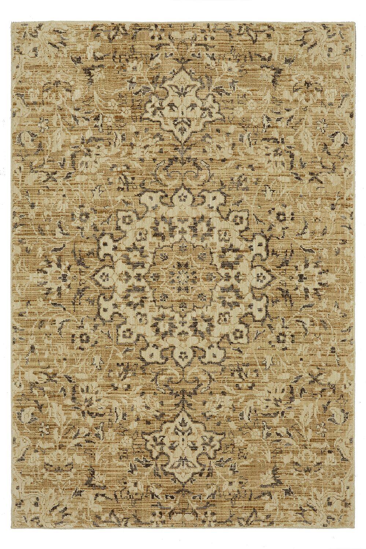 Lakemont Beige/Gold Area Rug Rug Size: Rectangle 5'3