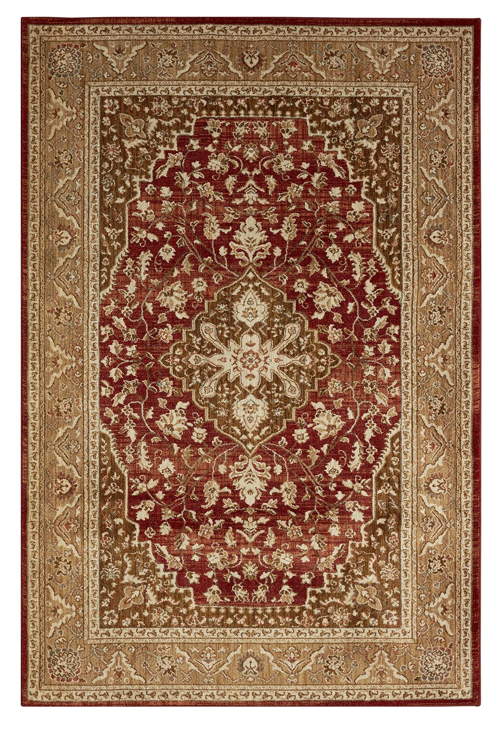 Lakemont Machine Woven Red Area Rug Rug Size: Rectangle 8' x 10'