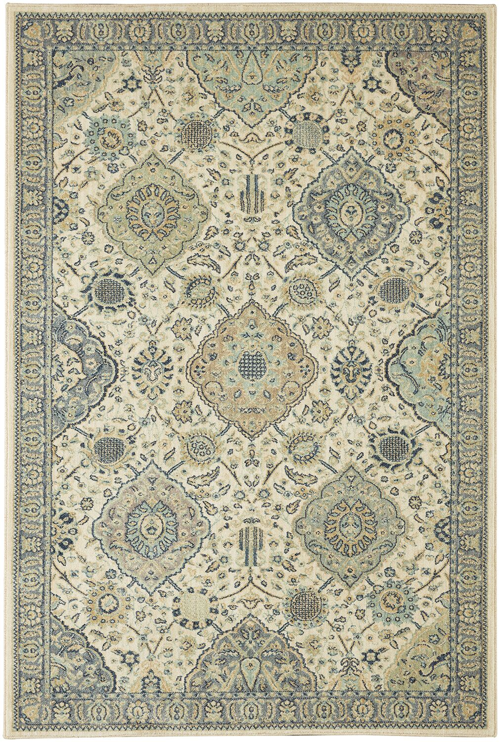 Lakemont Beige/Blue Area Rug Rug Size: Rectangle 8' x 10'