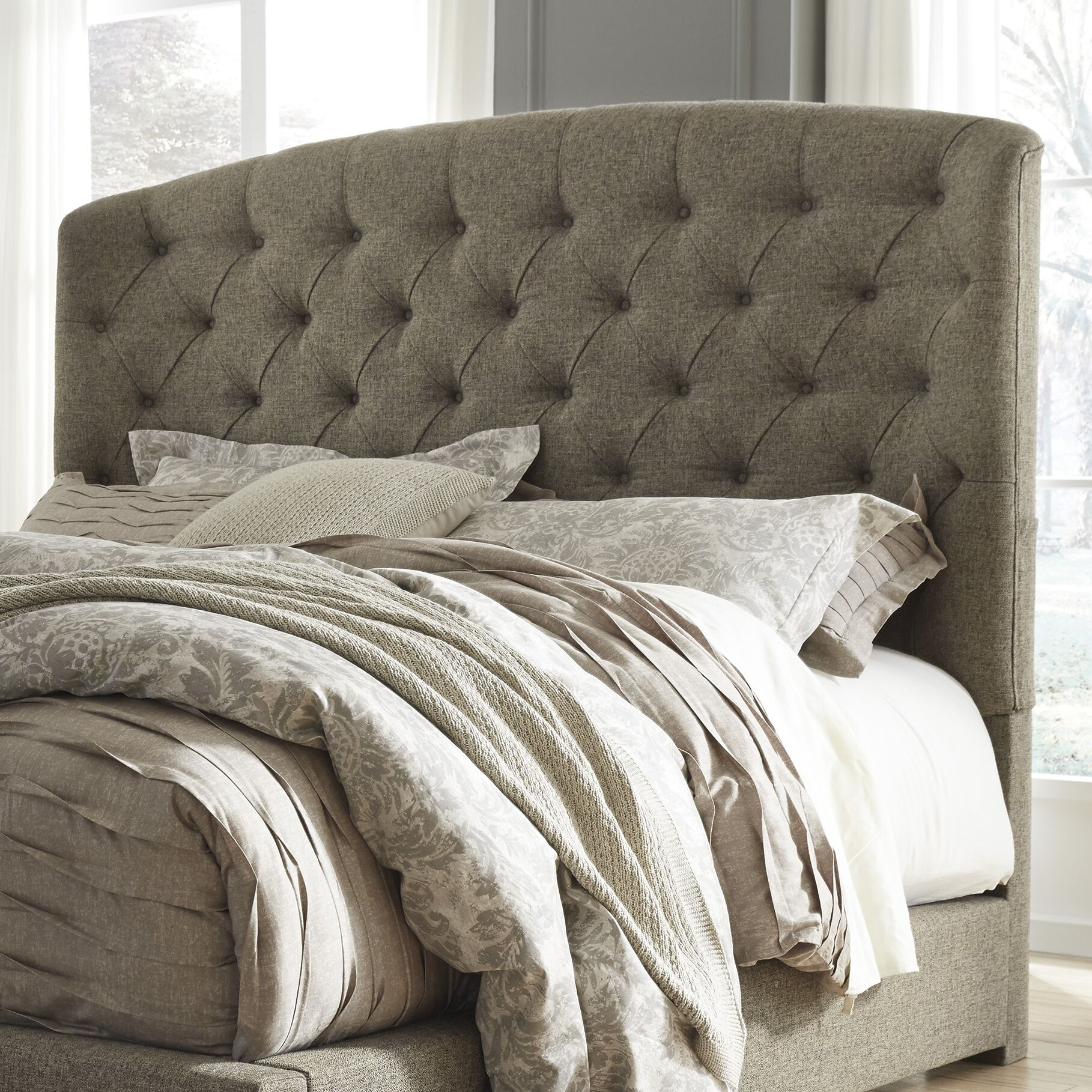 Almont Upholstered Panel Headboard Size: King
