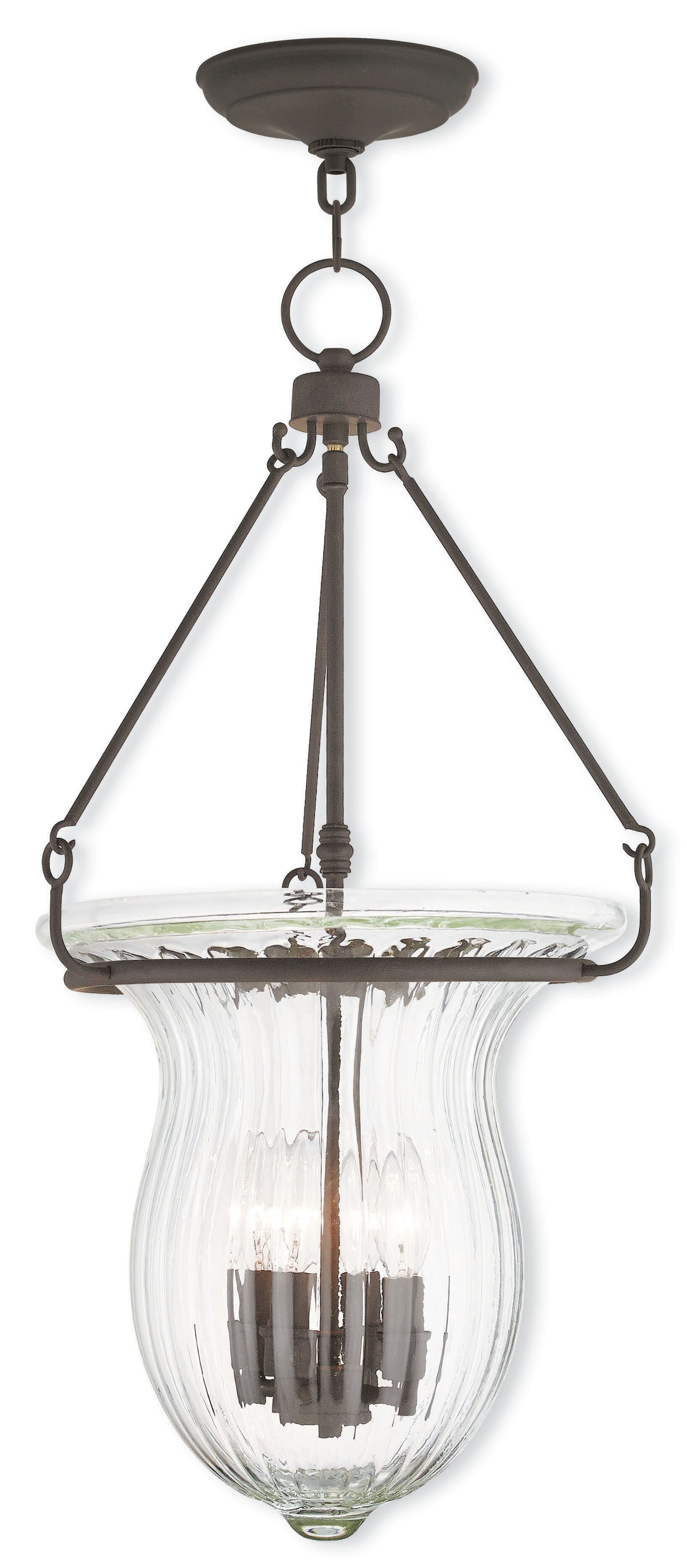 Bachmann 4-Light Urn Pendant Finish: Polished Nickel