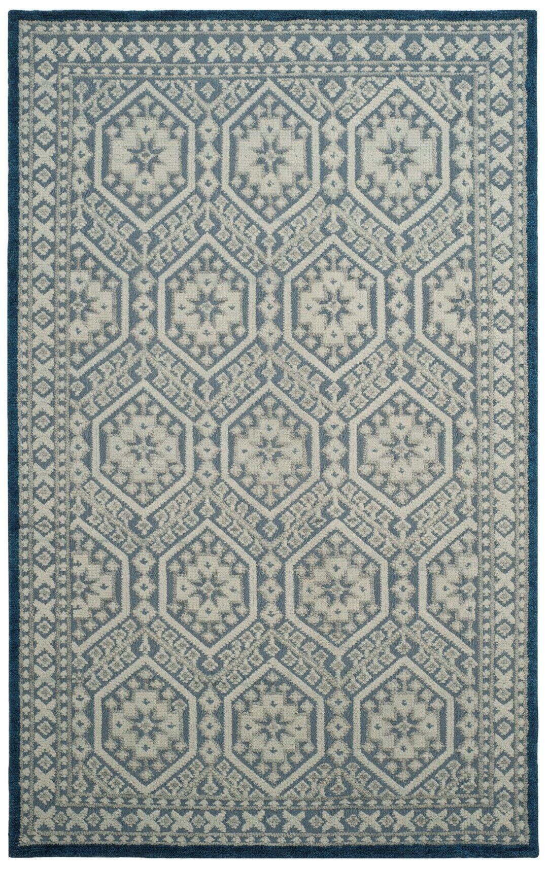 Baum Hand-Knotted Blue Area Rug Rug Size: Rectangle 6' x 9'